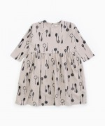 Dress with spoons print | Woodwork