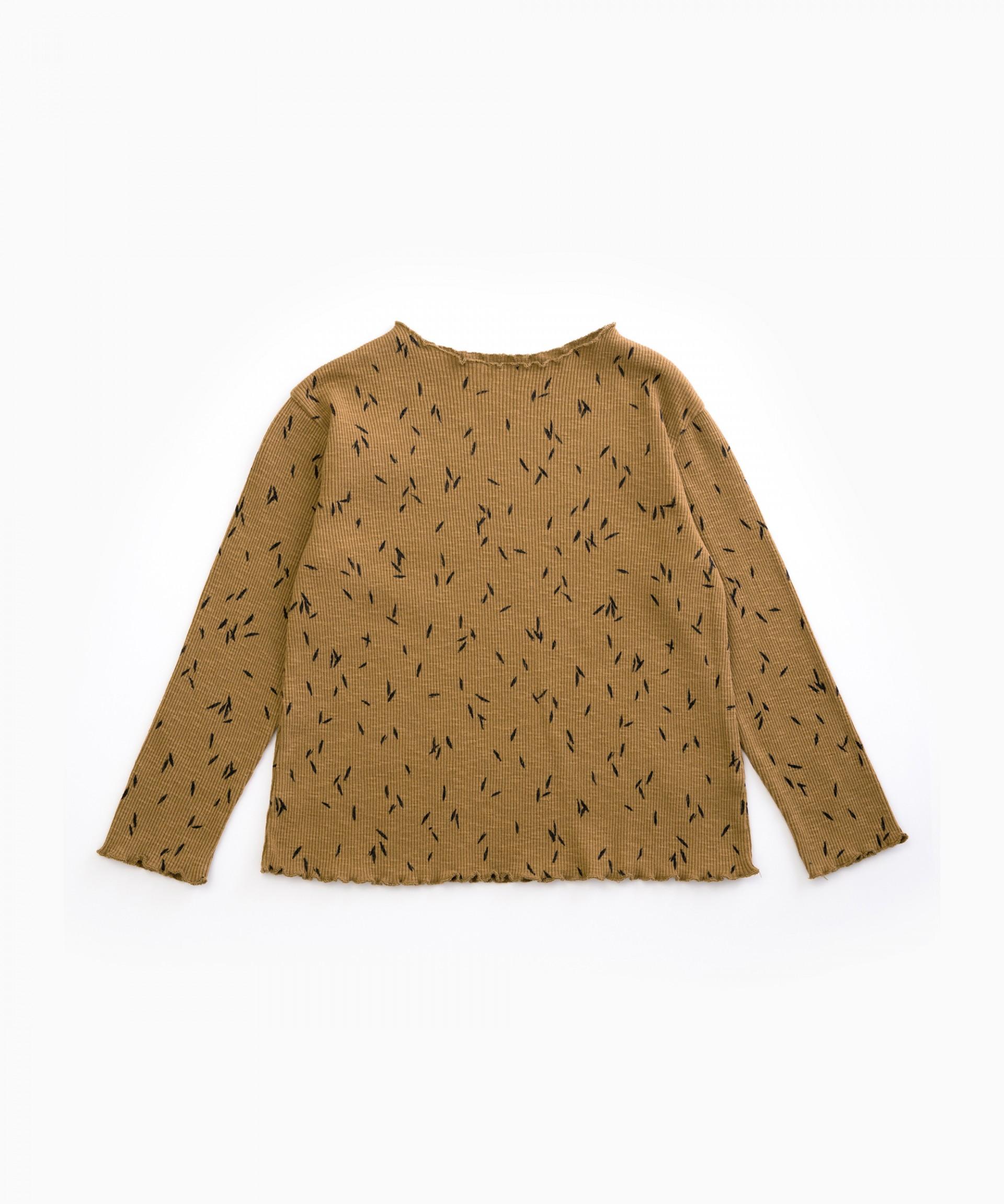 Camiseta con estampado de hojas | Woodwork