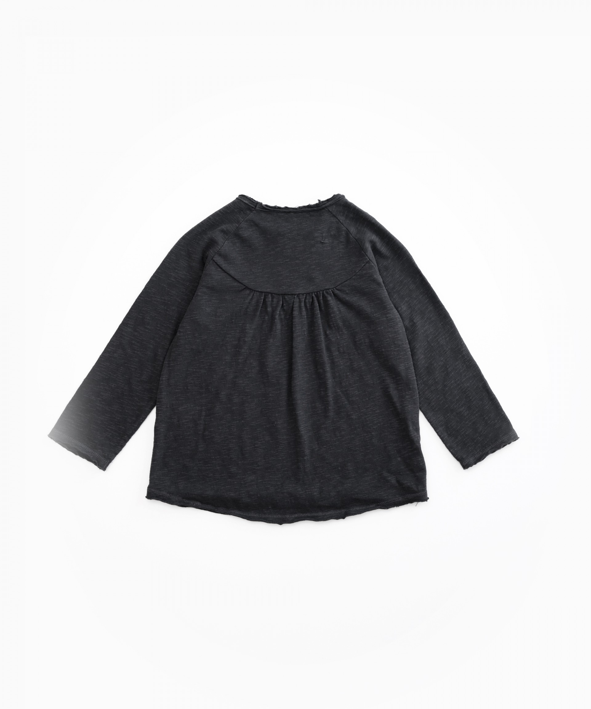 Jersey with pleats at the back | Woodwork