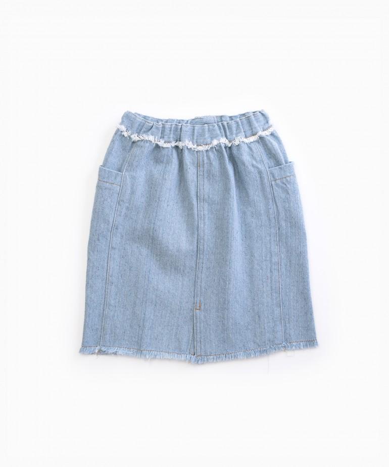 Gonna di jeans con fibre riciclate