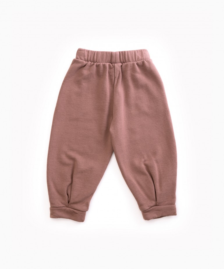 Trousers in jersey stitch organic cotton