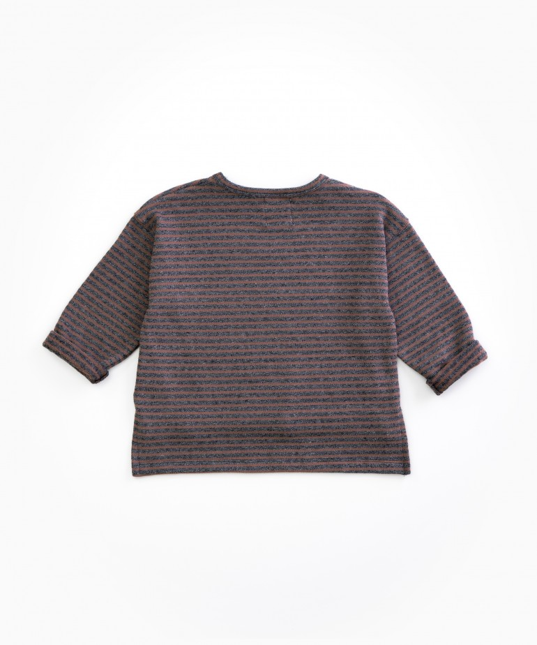 Organic cotton striped jersey