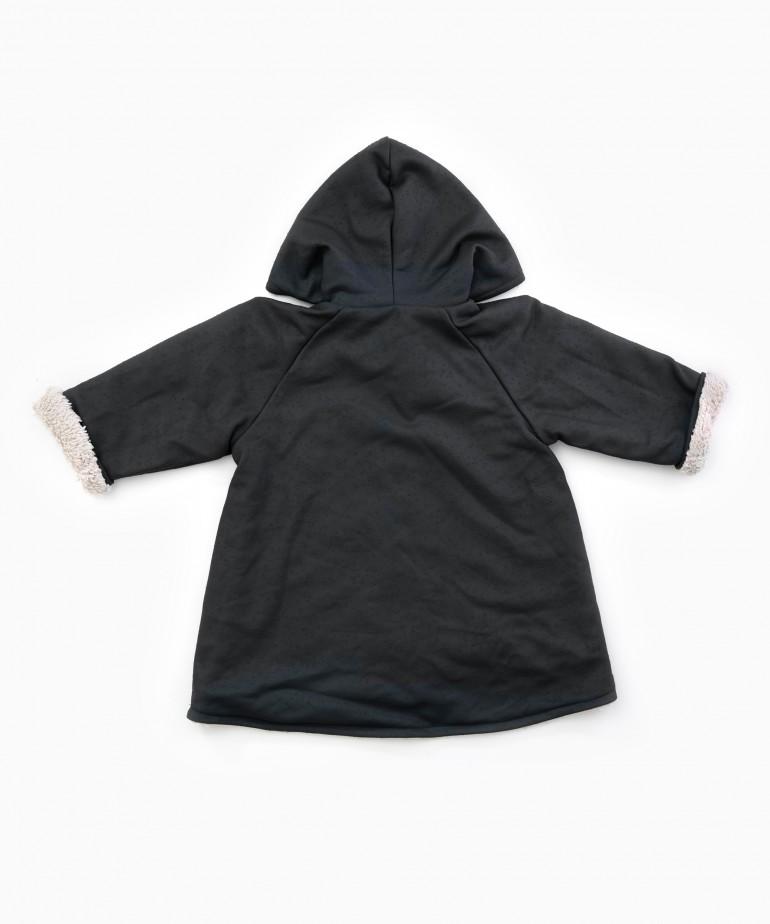 Waterproof hooded jacket with fur lining