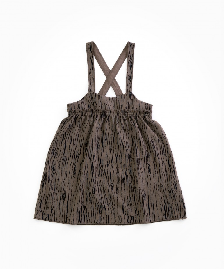 Dress in organic cotton with straps