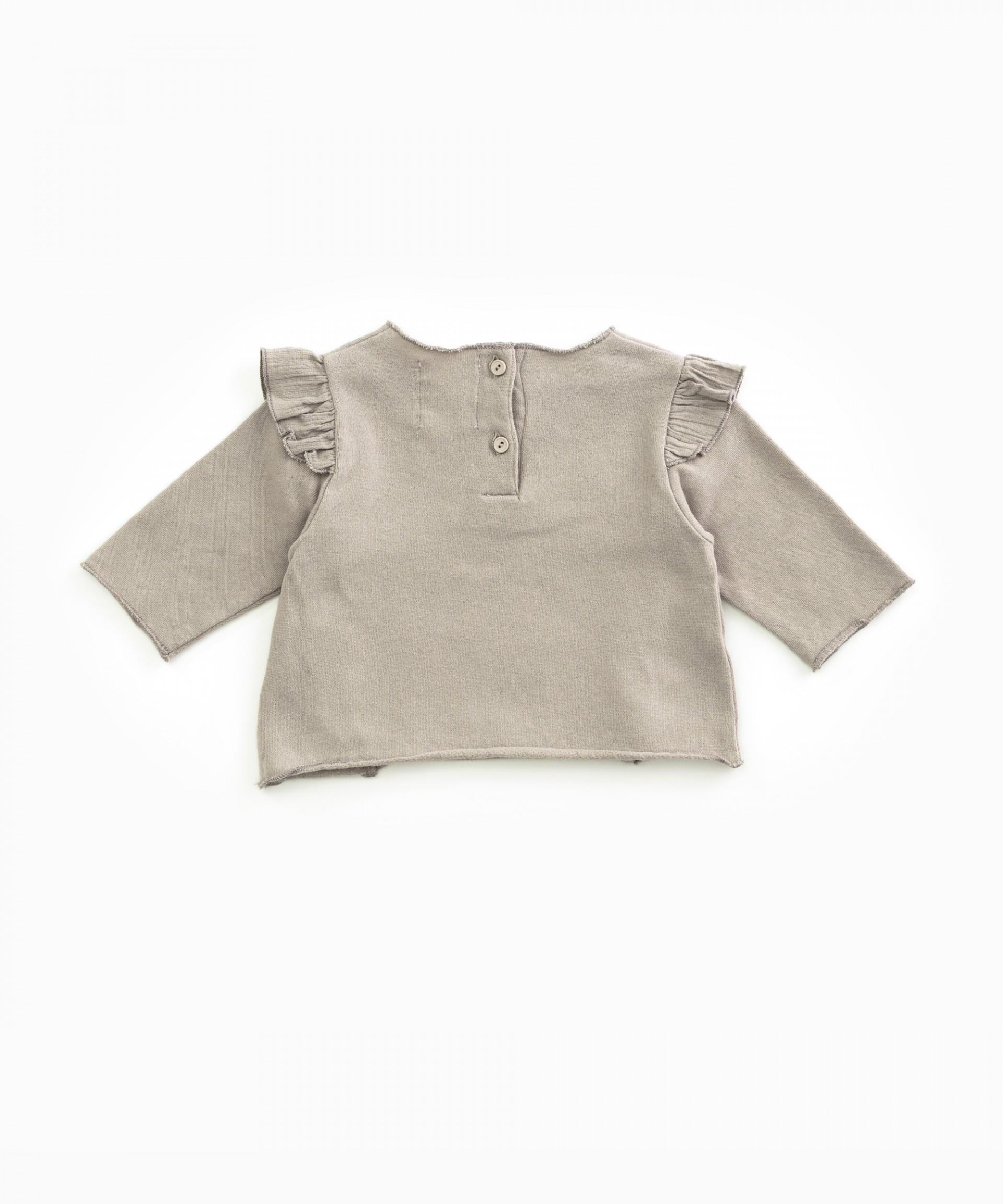 Camisola em algodão orgânico com folho | Woodwork