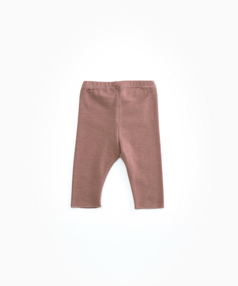 Leggings in jersey stitch organic cotton