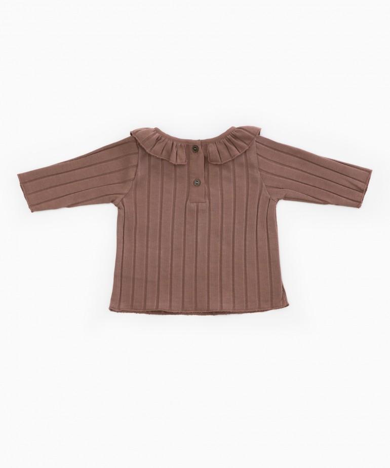 Camiseta de punto de canalé