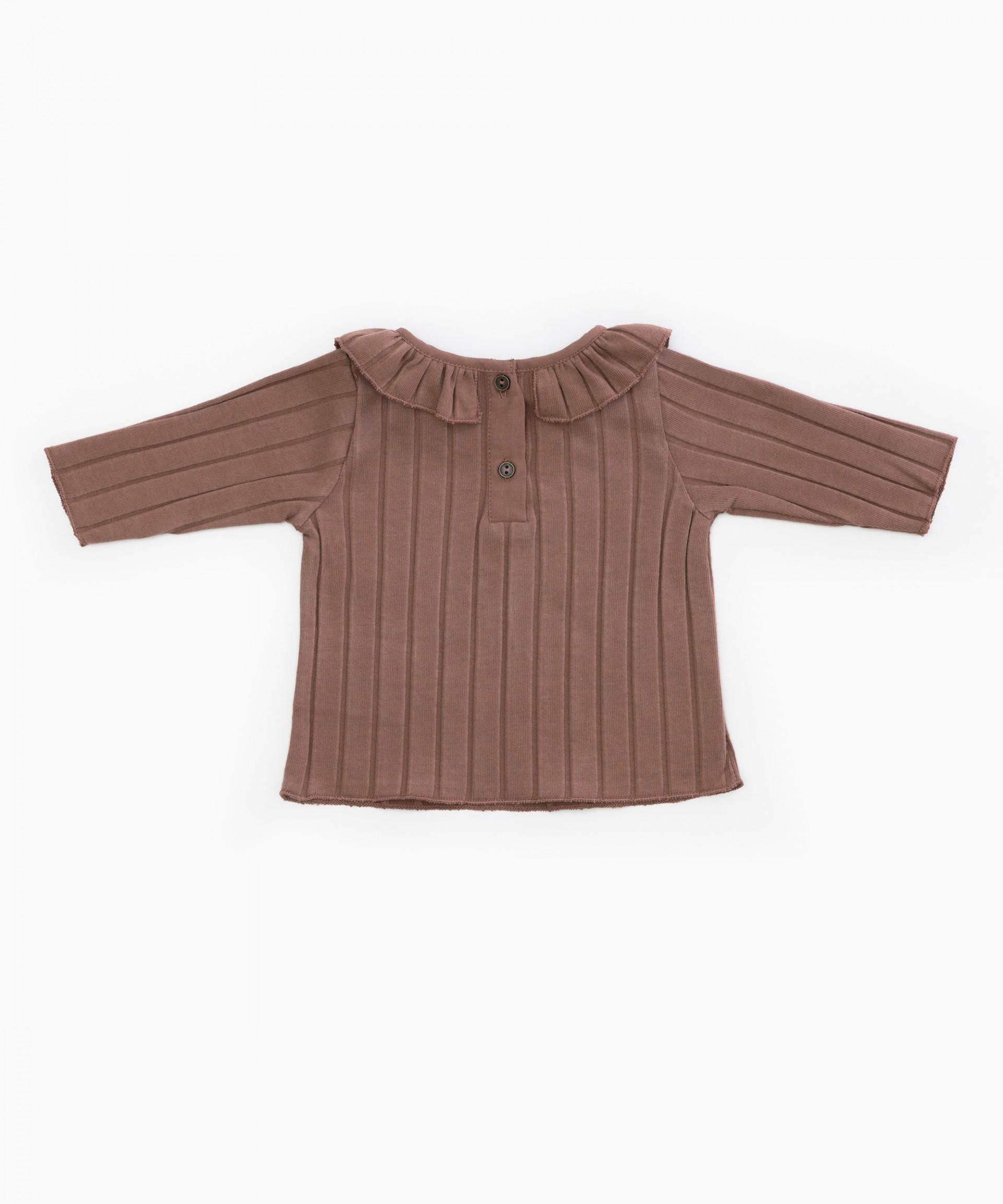 T-Shirt in cotone organico con volant | Woodwork
