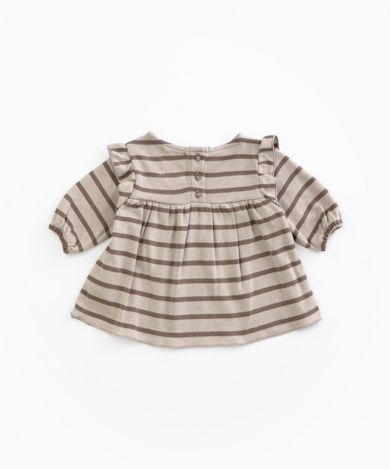 Striped tunic in organic cotton