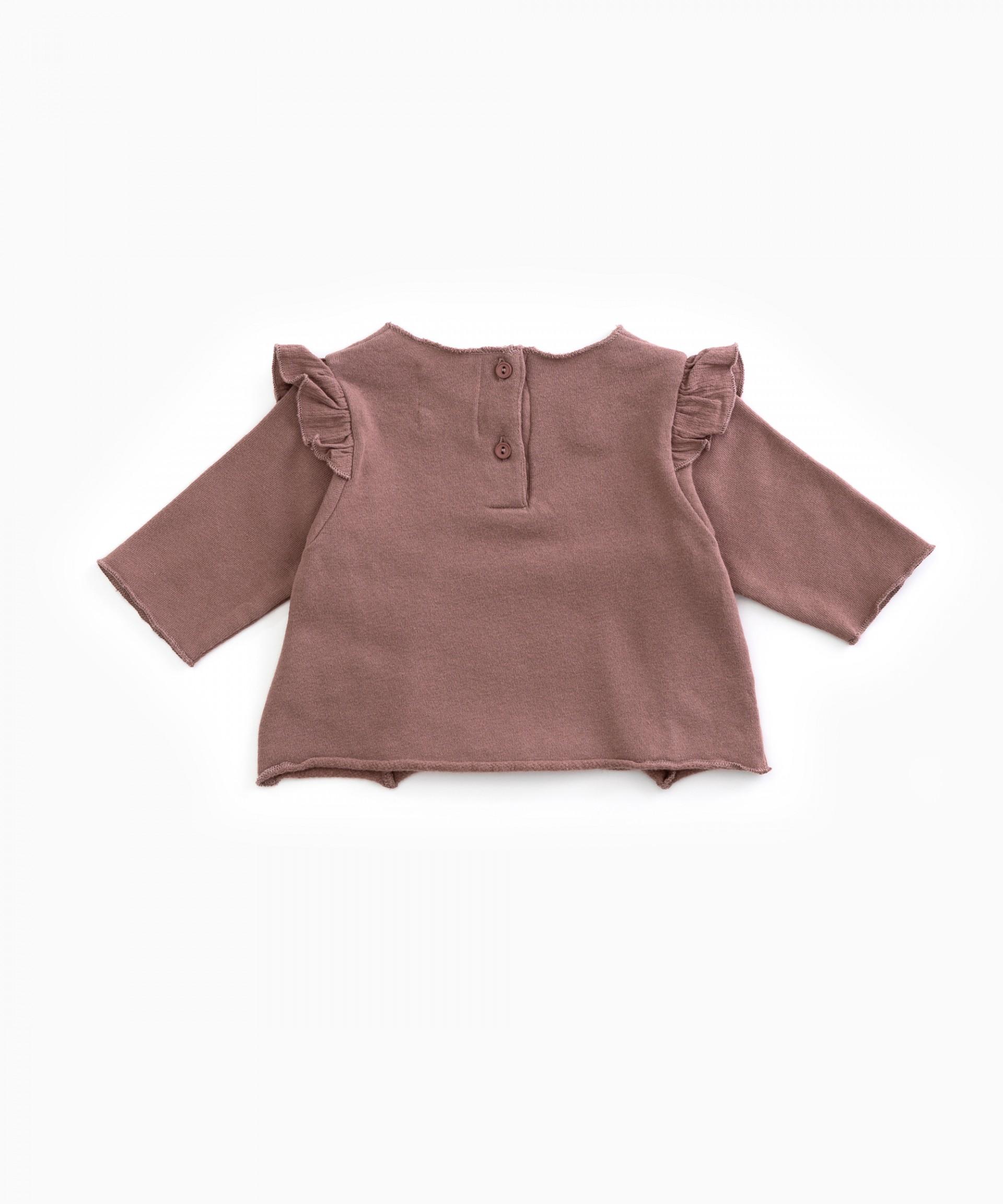 Jersey de algodón orgánico con volante | Woodwork