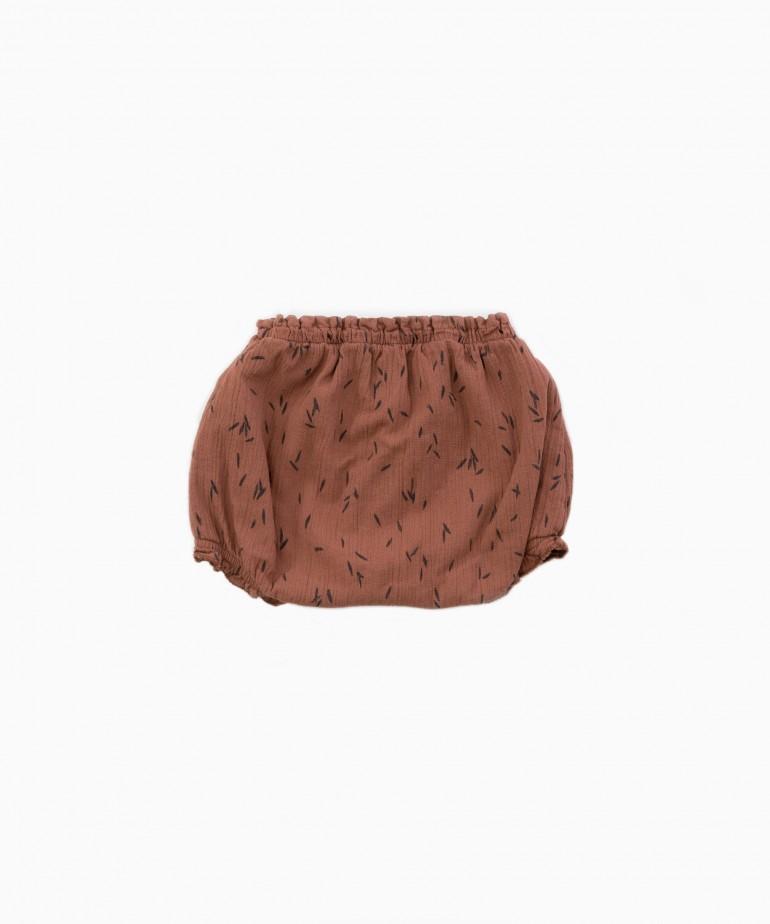 """Pantaloncini con stampa """"foglie�"""