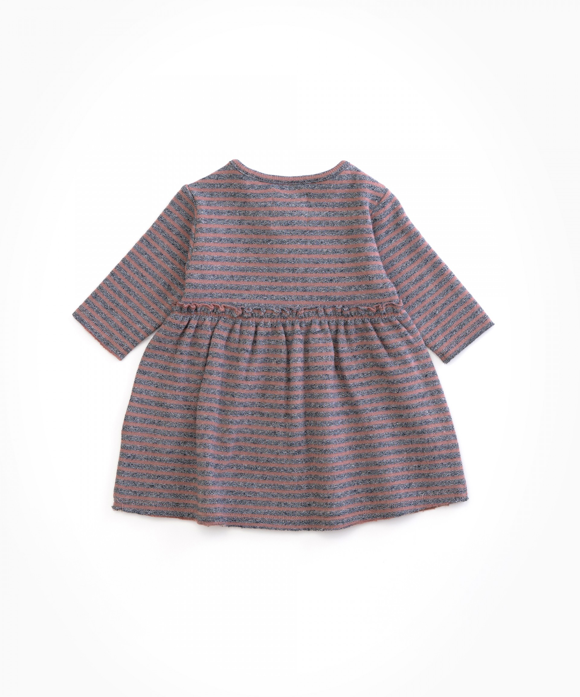 Striped dress with frill | Woodwork