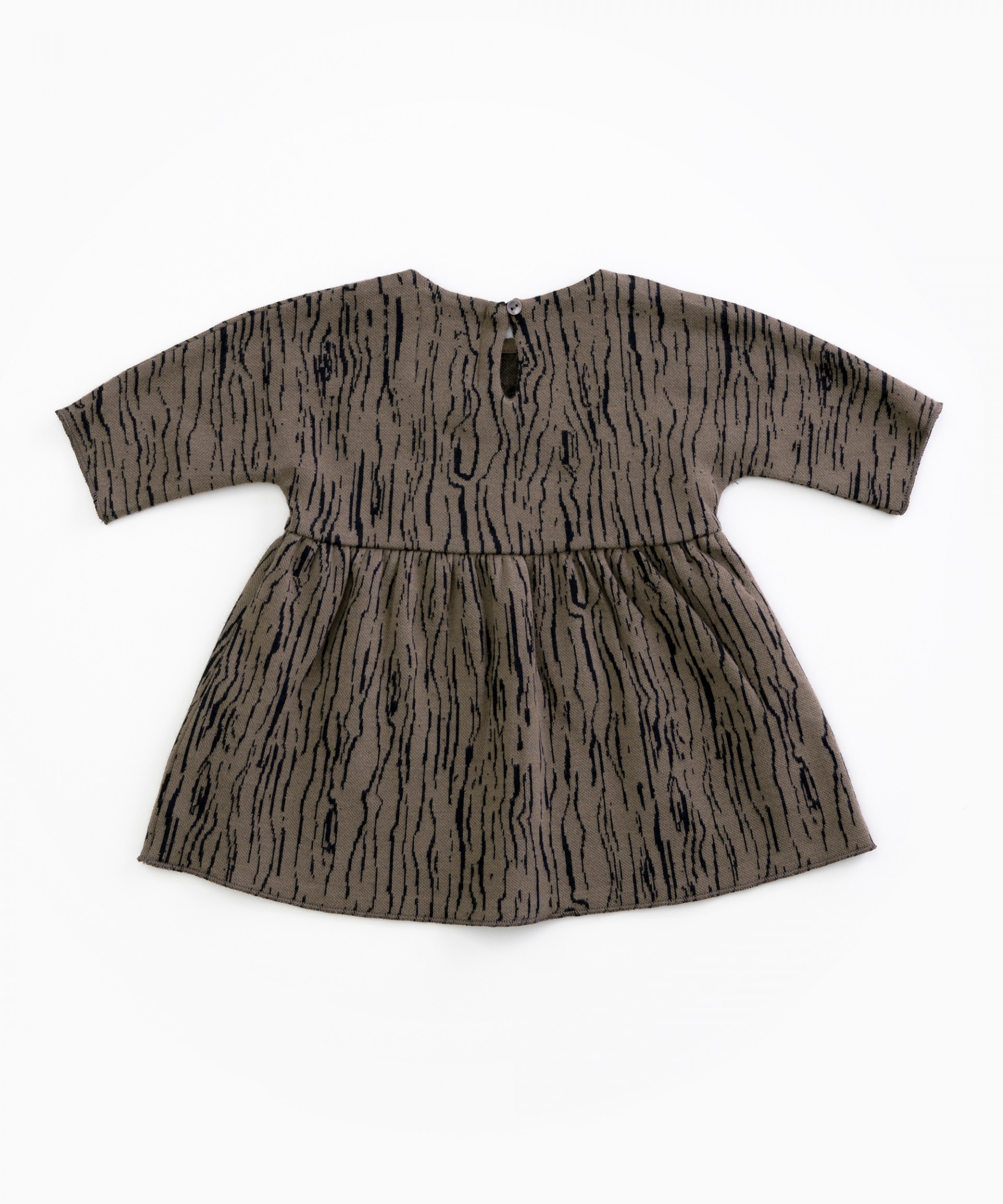 Dress in organic cotton with a pattern | Woodwork