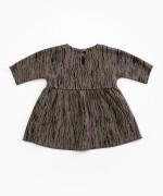 Vestido de algodón orgánico con patrón | Woodwork