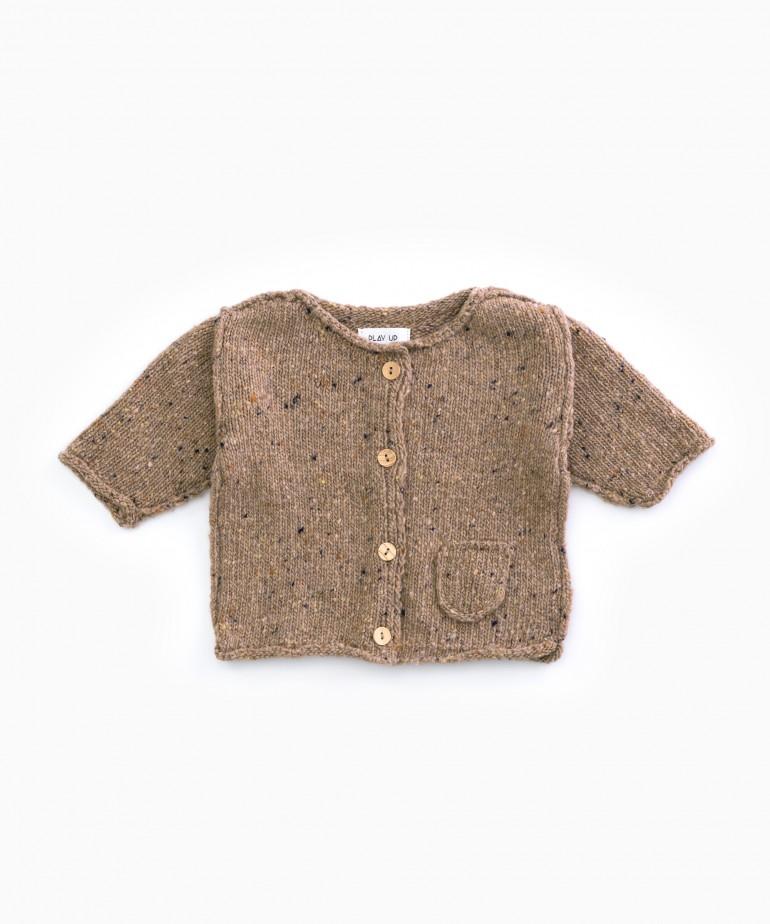 Chaqueta tricot de fibras recicladas