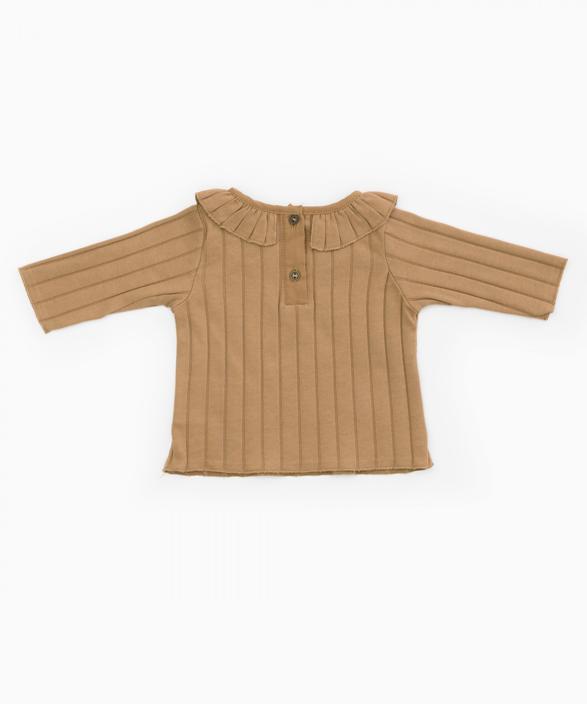 T-shirt in organic cotton with frill | Woodwork