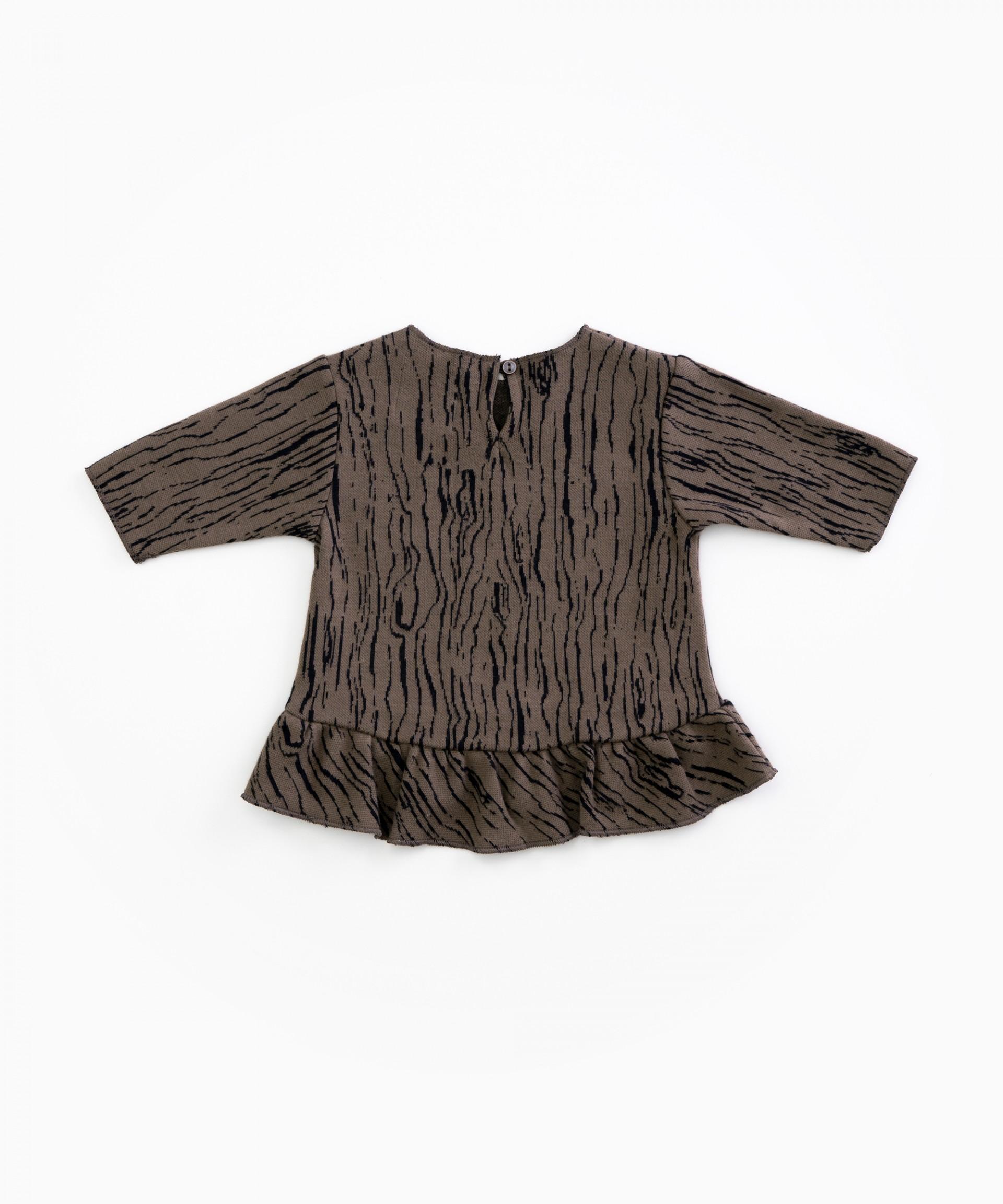 Camisola em algodão orgânico com padrão | Woodwork