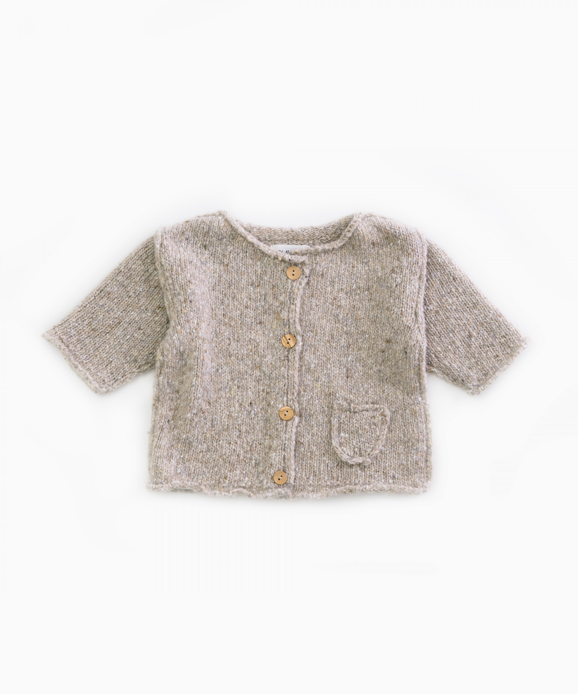 Knitted jacket with a pocket | Woodwork