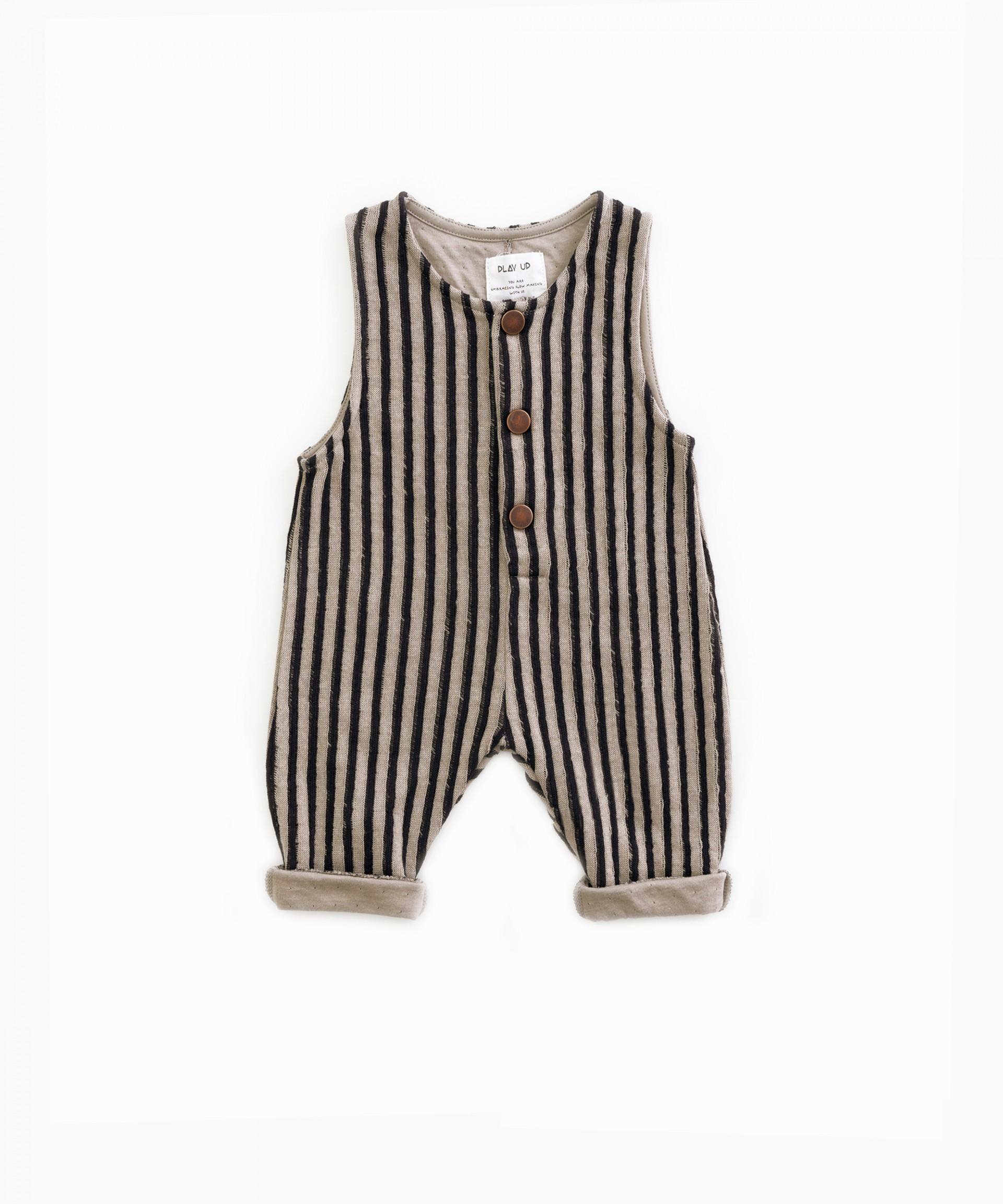 Striped jumpsuit | Woodwork