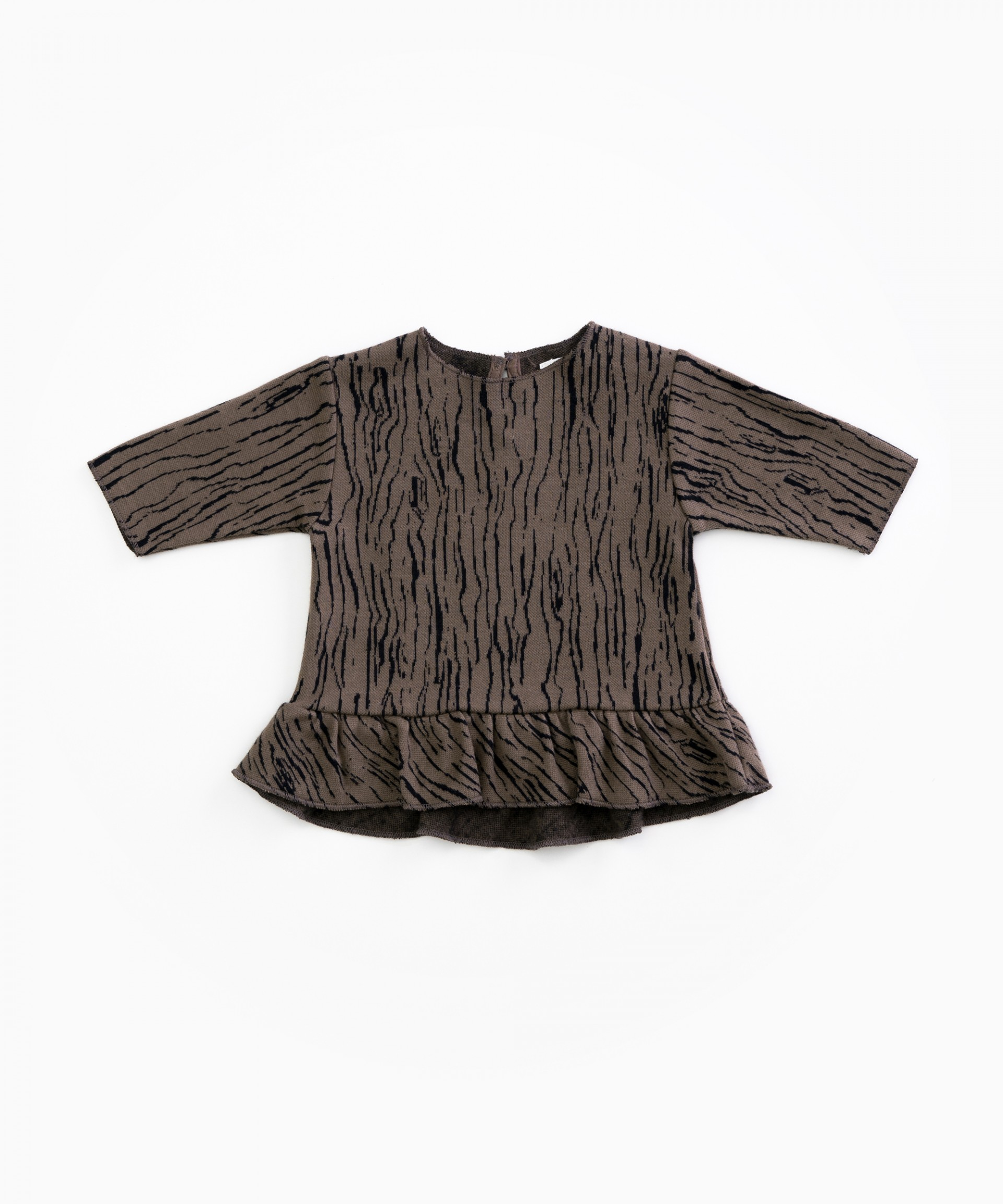 Jersey in organic cotton with a pattern | Woodwork