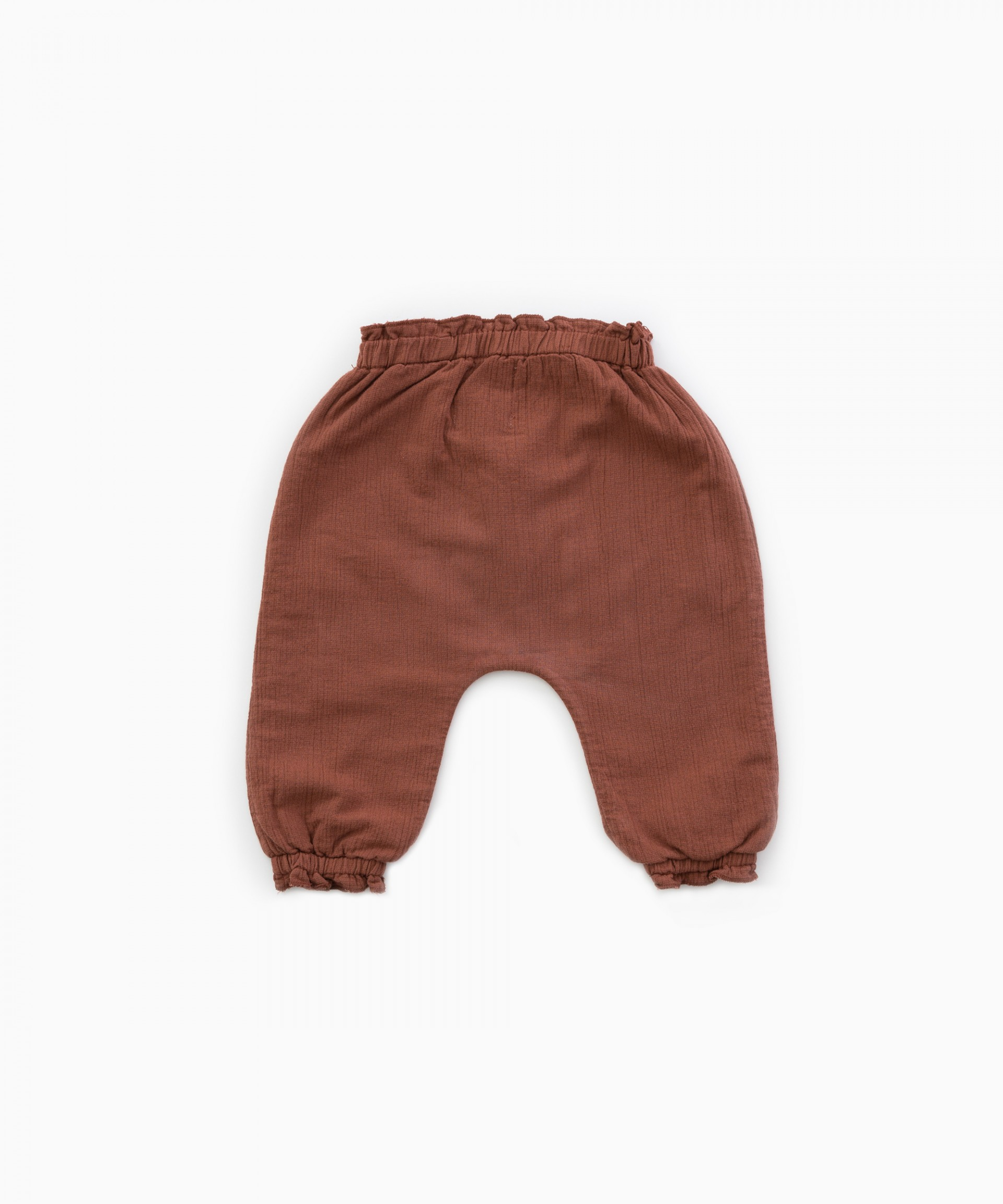 Cloth trousers with jersey stitch lining | Woodwork