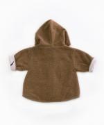 Casaco peluche com fibras recicladas | Woodwork