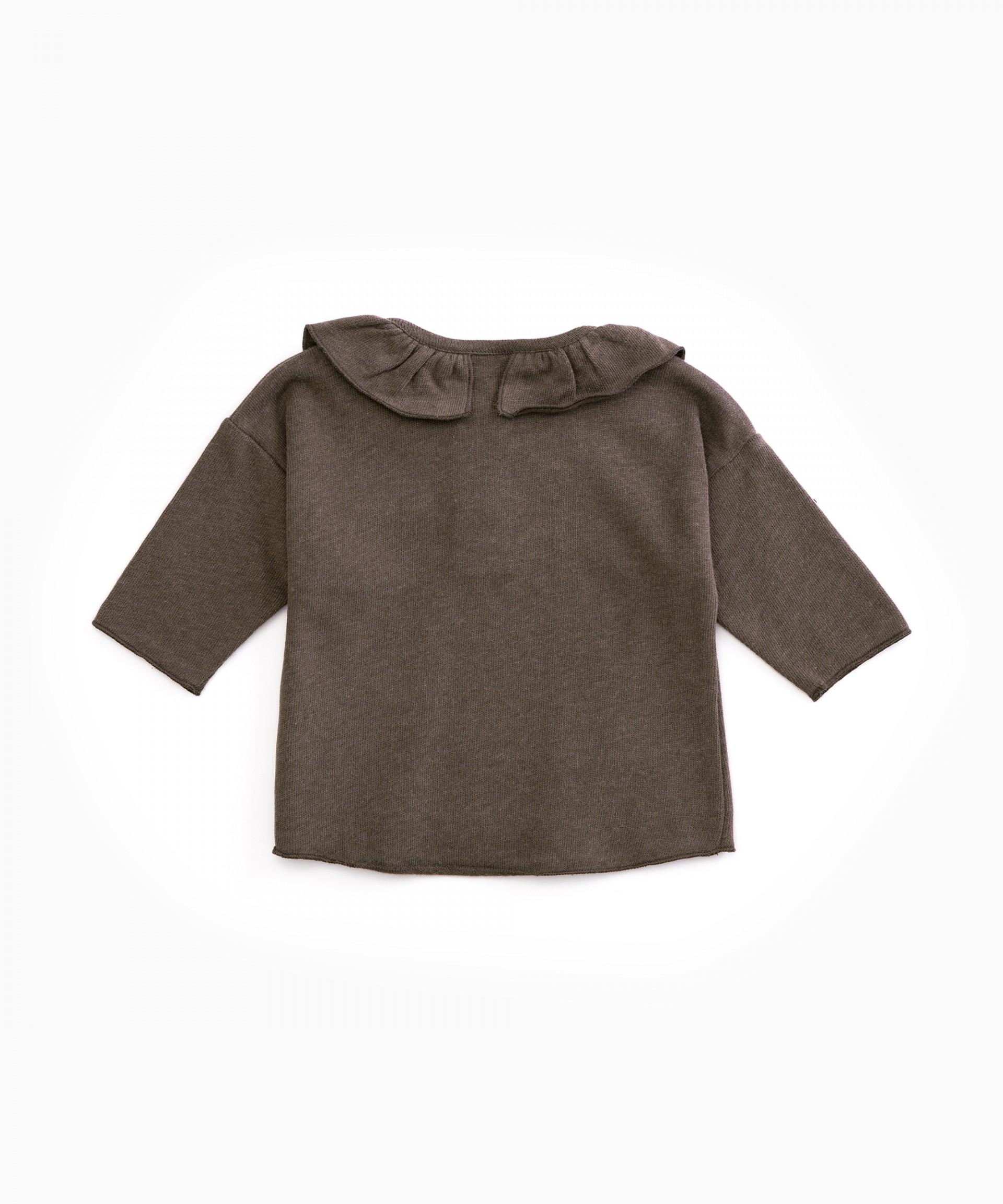 Camisola de malha com folho | Woodwork