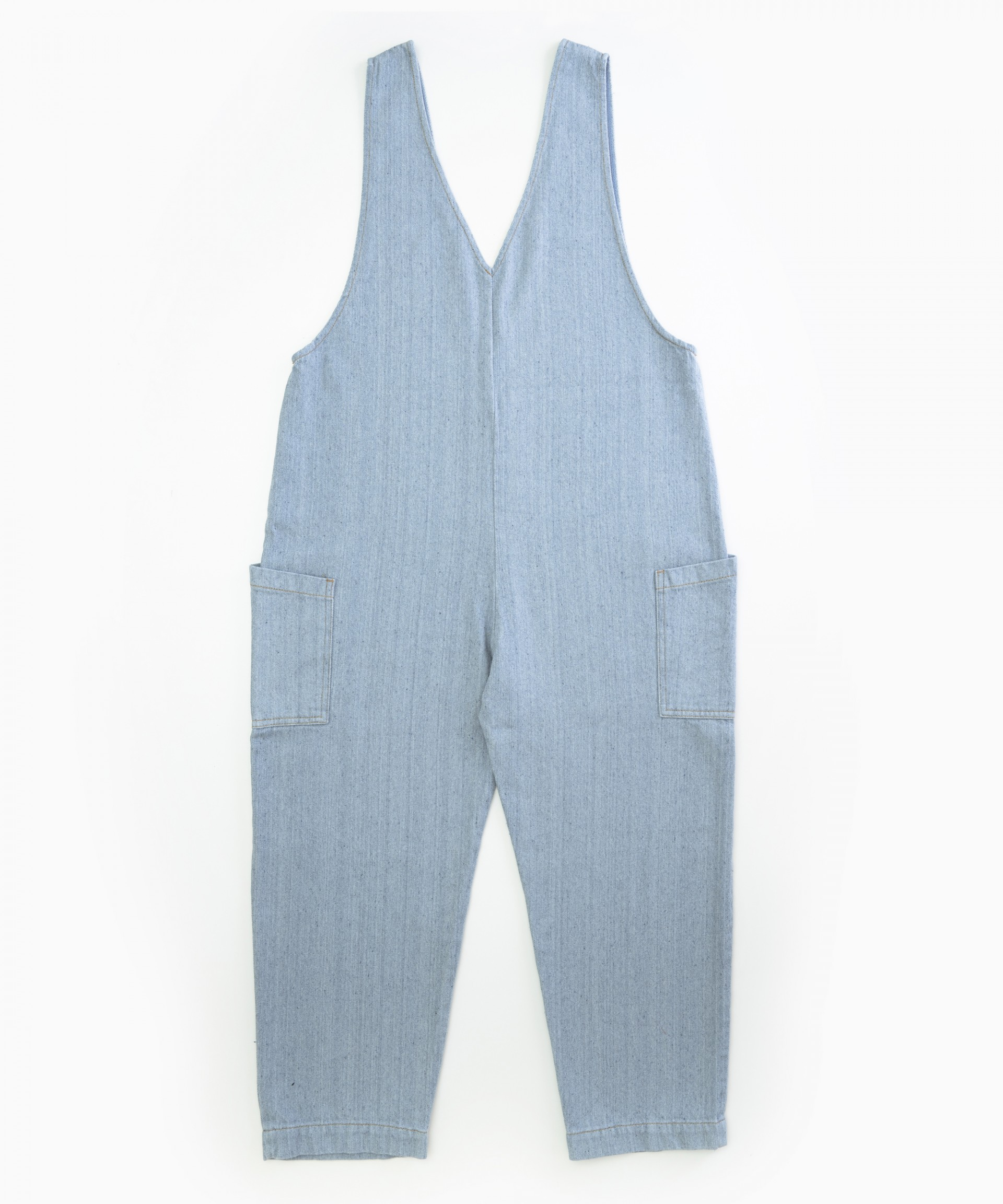 Denim dungarees with pockets | Woodwork