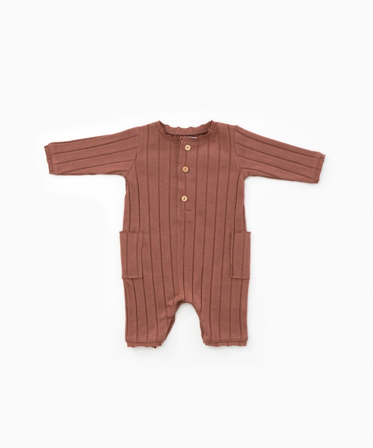 Jumpsuit with ribbing