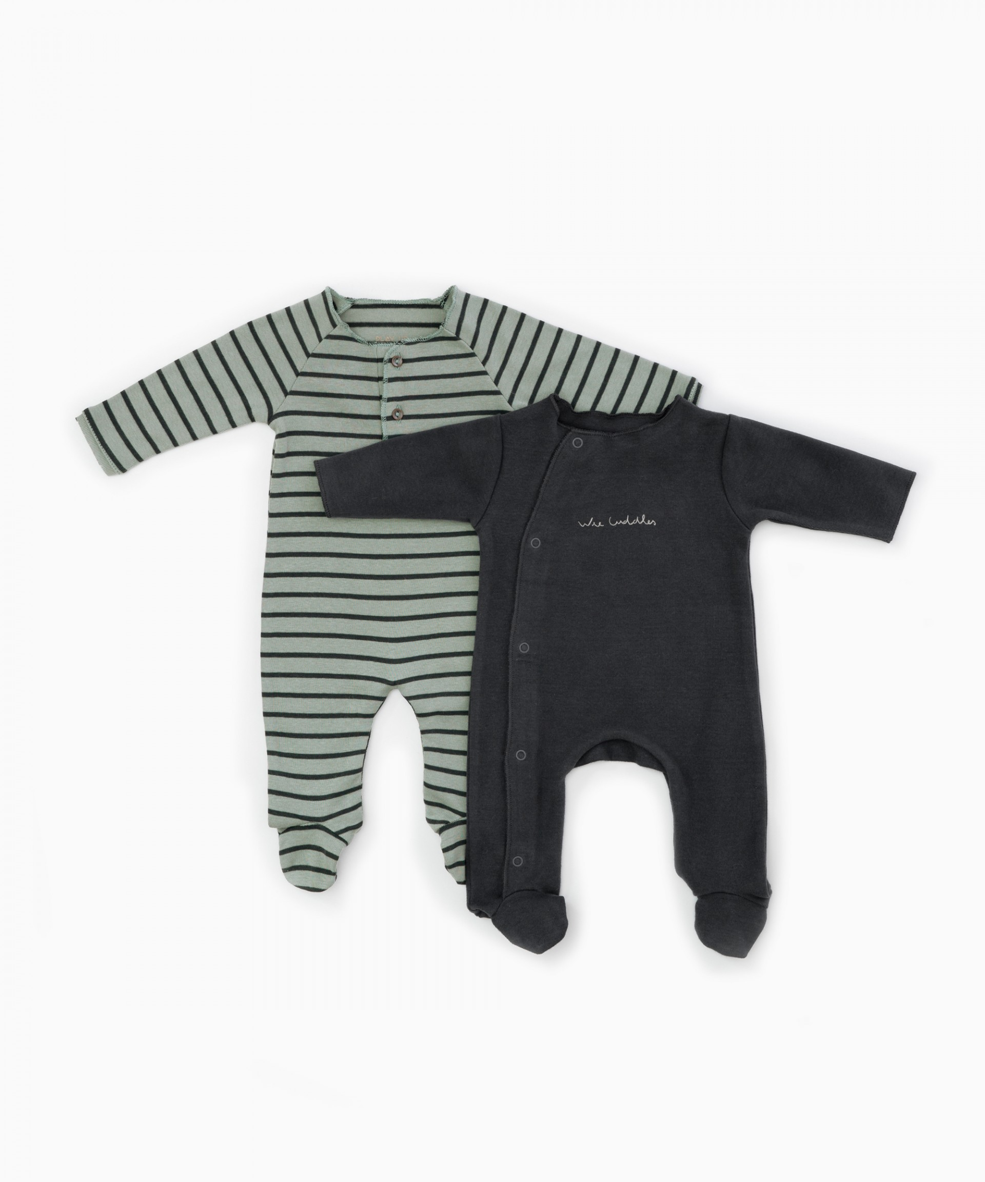 Pack of 2 striped baby grows | Woodwork