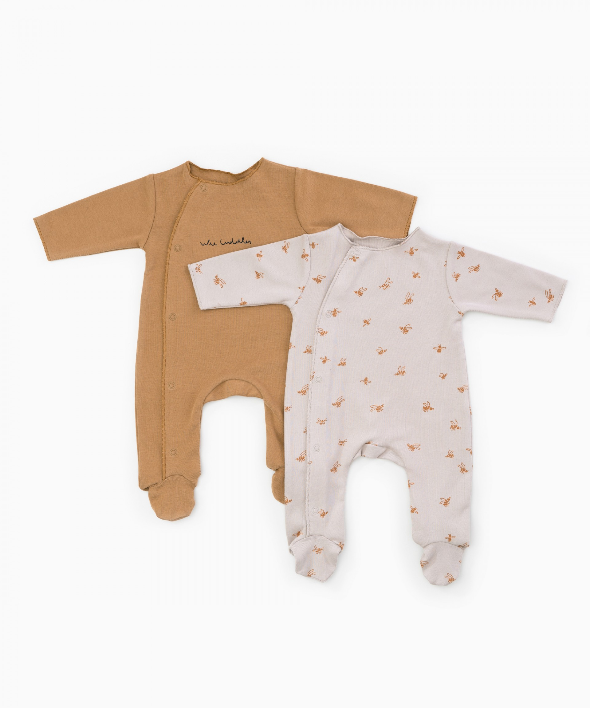 Pack of 2 printed baby grows| Woodwork