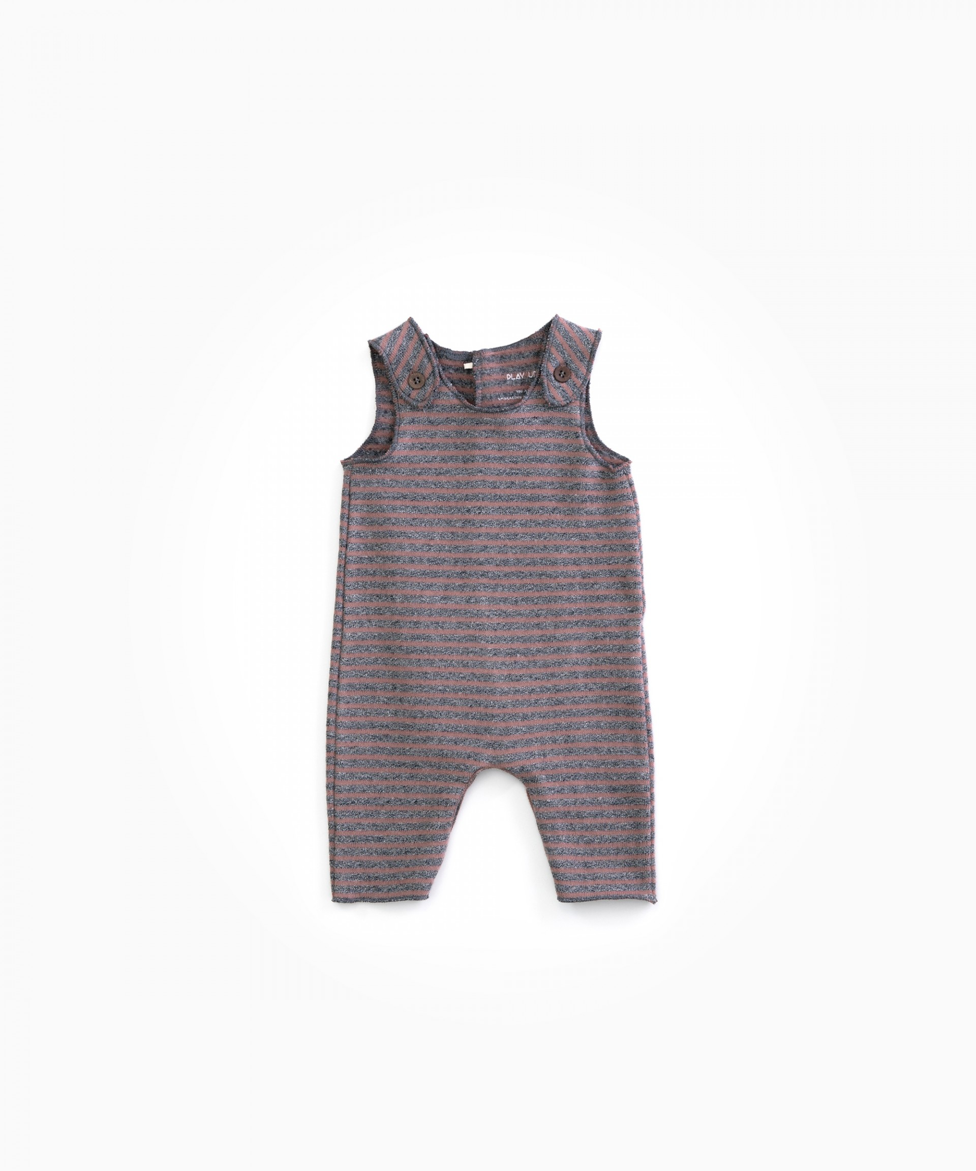 Sleeveless dungarees in organic cotton  | Woodwork