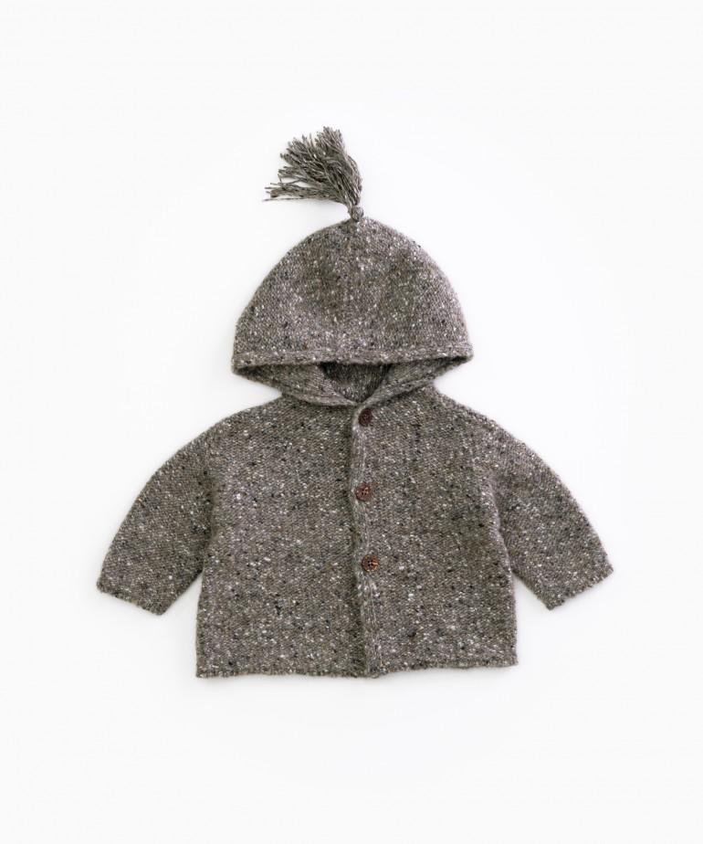 Chaqueta tricot con capucha