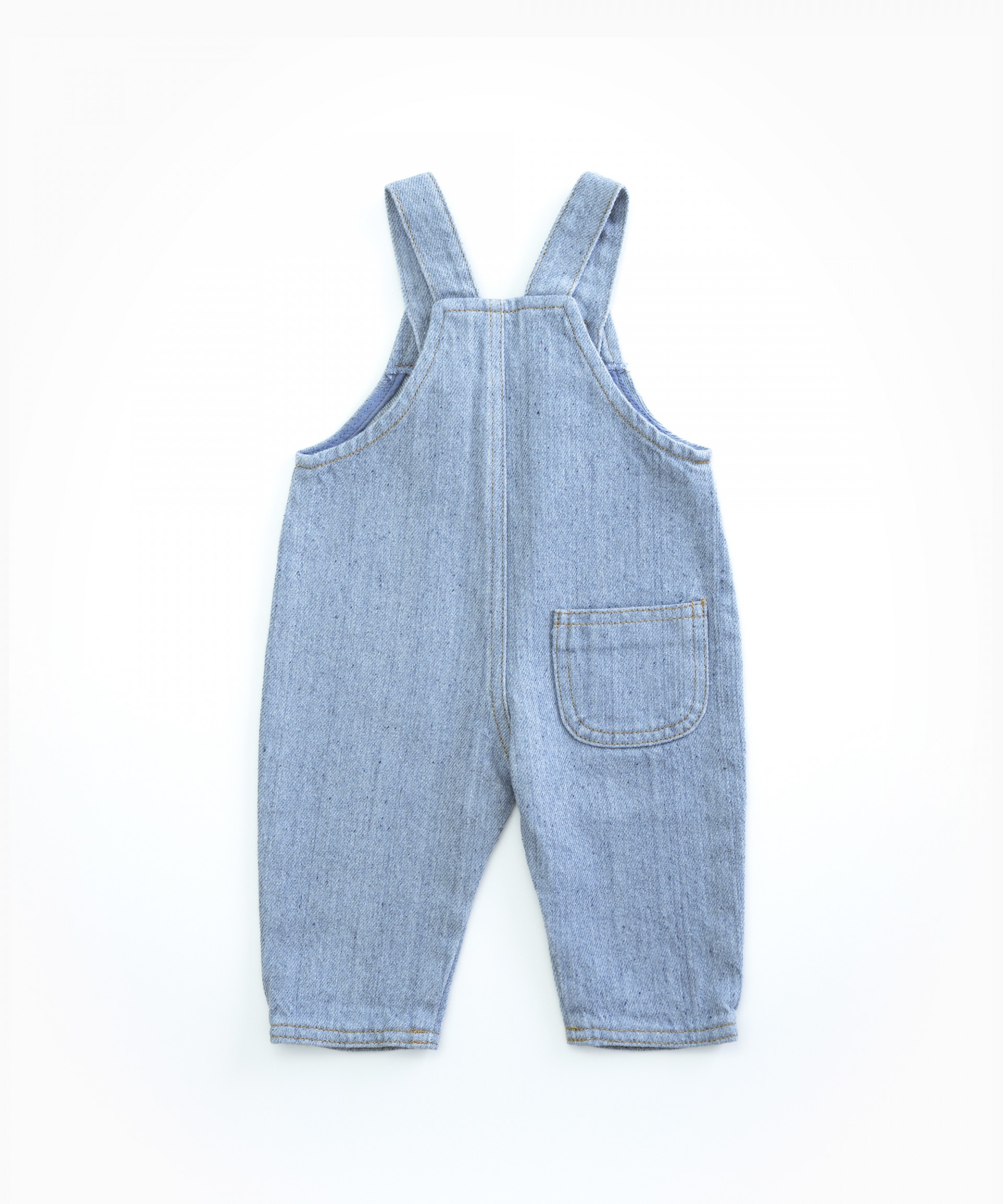 Denim dungarees in recycles cotton | Woodwork