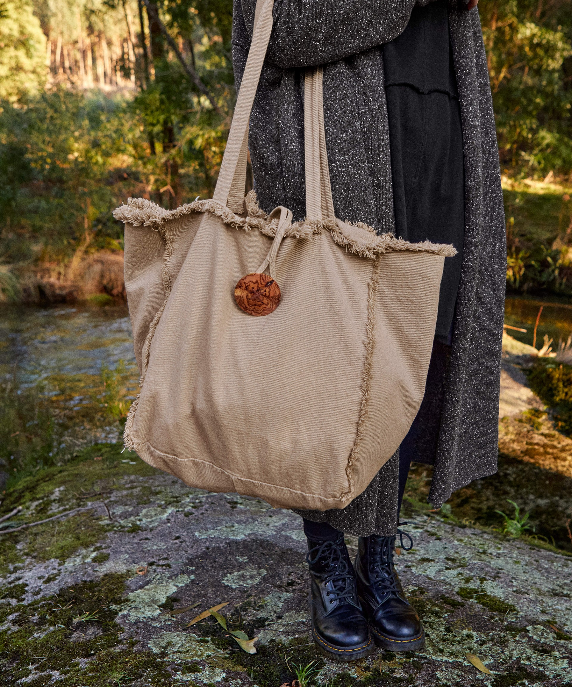 Borsa in twill | Woodwork