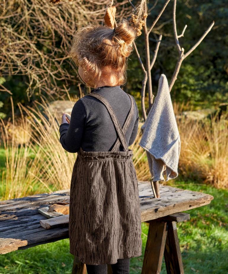 Vestido de algodón orgánico con tirantes