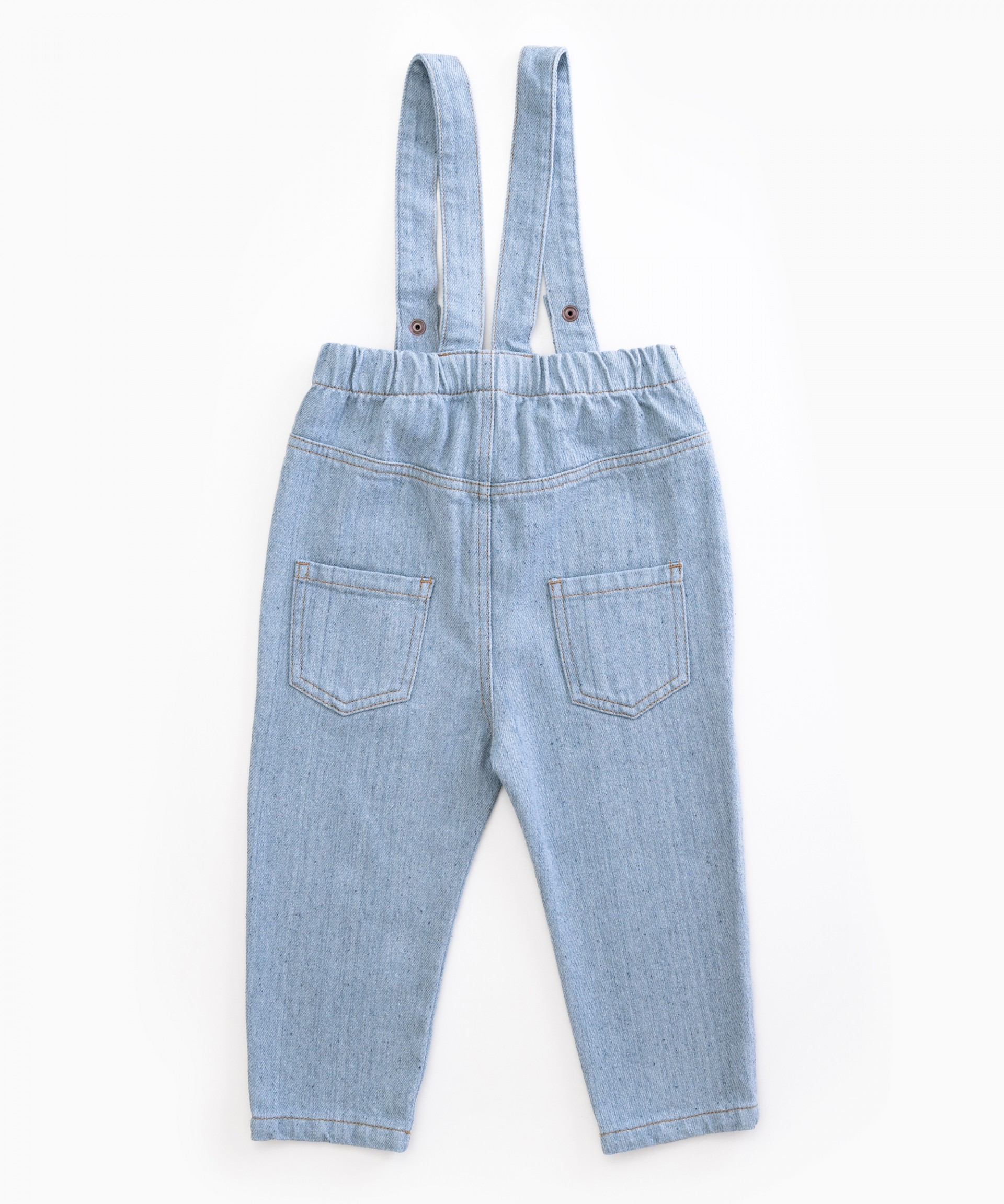 Denim dungarees in recycled cotton | Woodwork