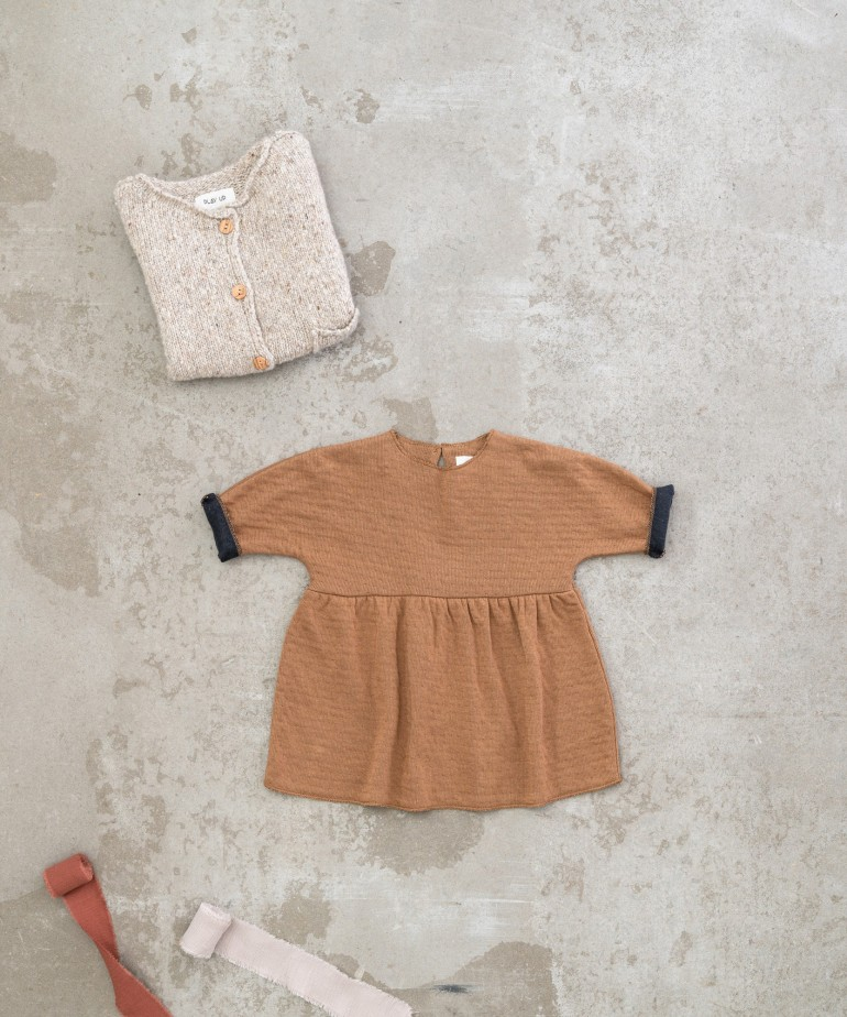 Double-sided dress in organic cotton