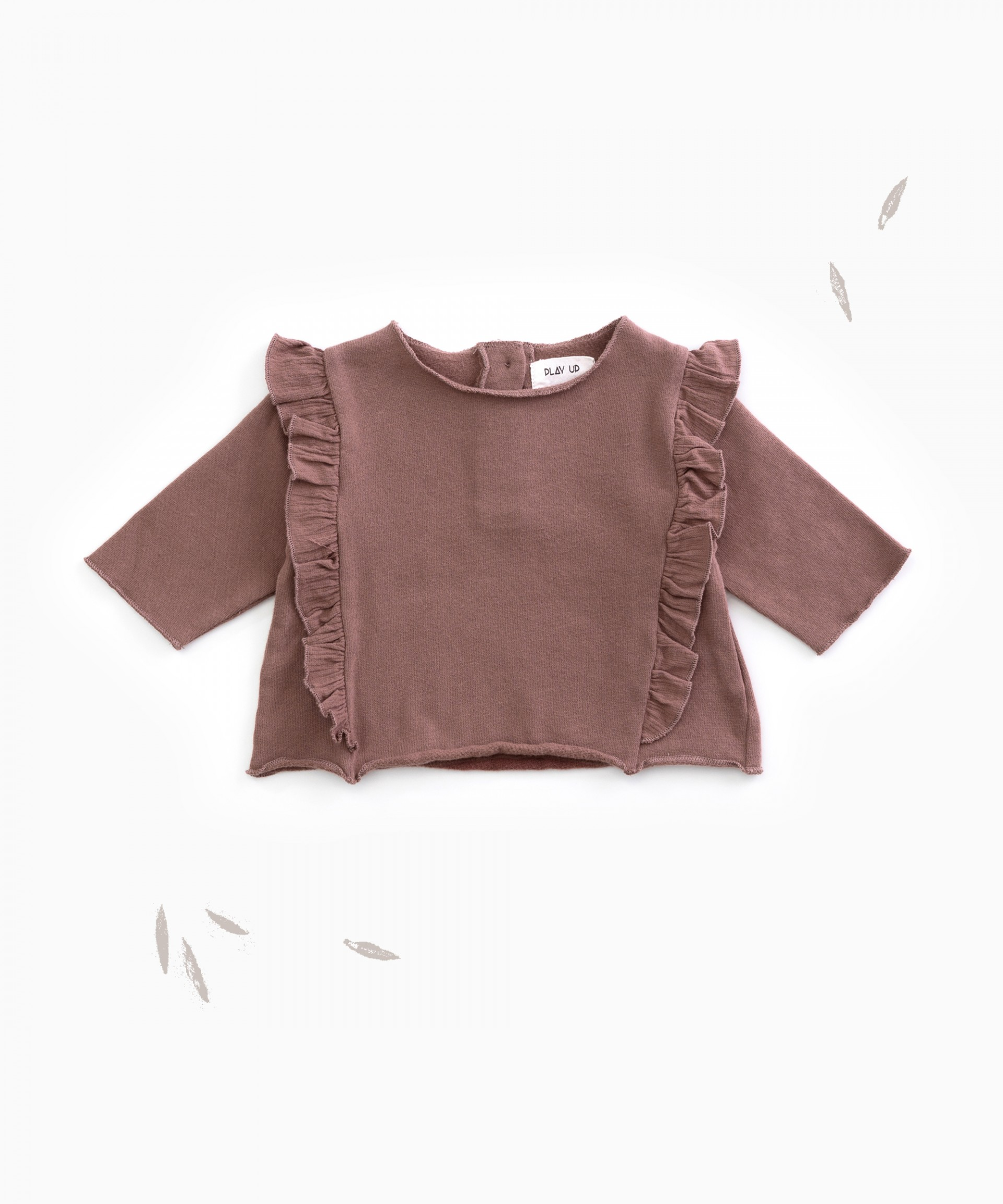 Jersey in organic cotton with a frill | Woodwork