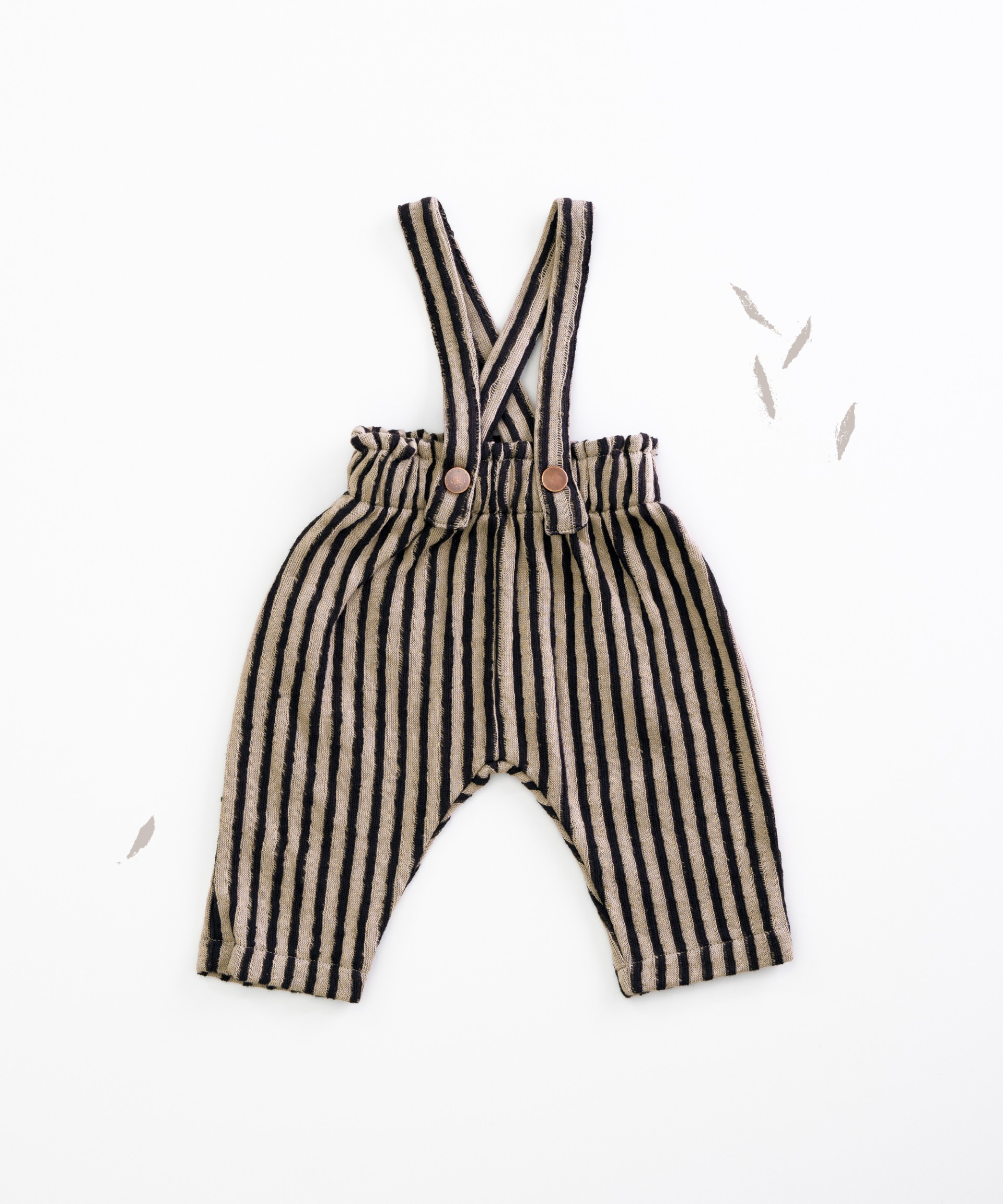 Pantalón de algodón orgánico con tirantes | Woodwork