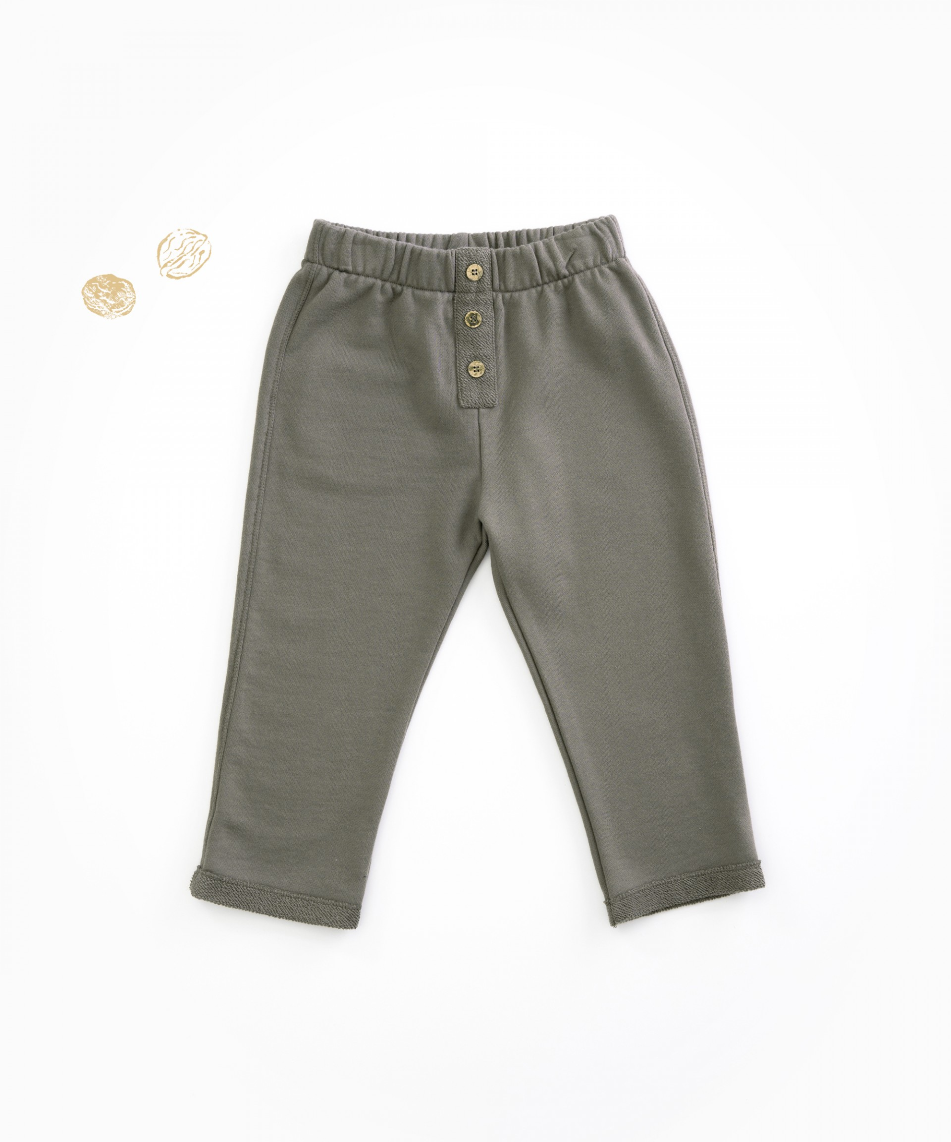 Trousers in jersey stitch organic cotton | Woodwork