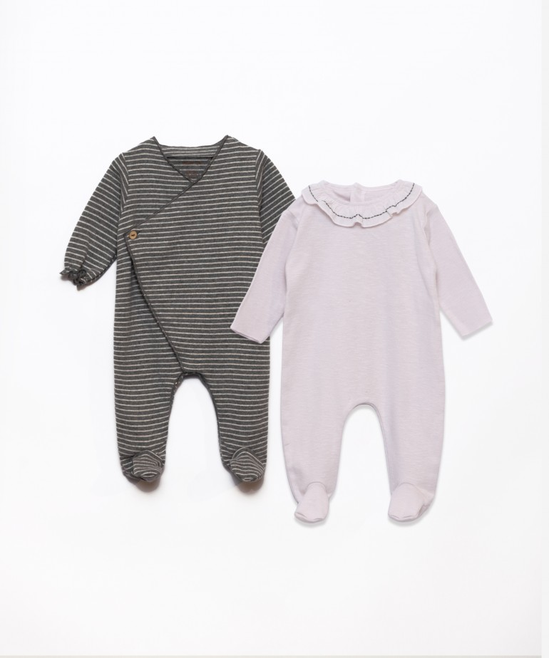 Set of two one-piece babygrows