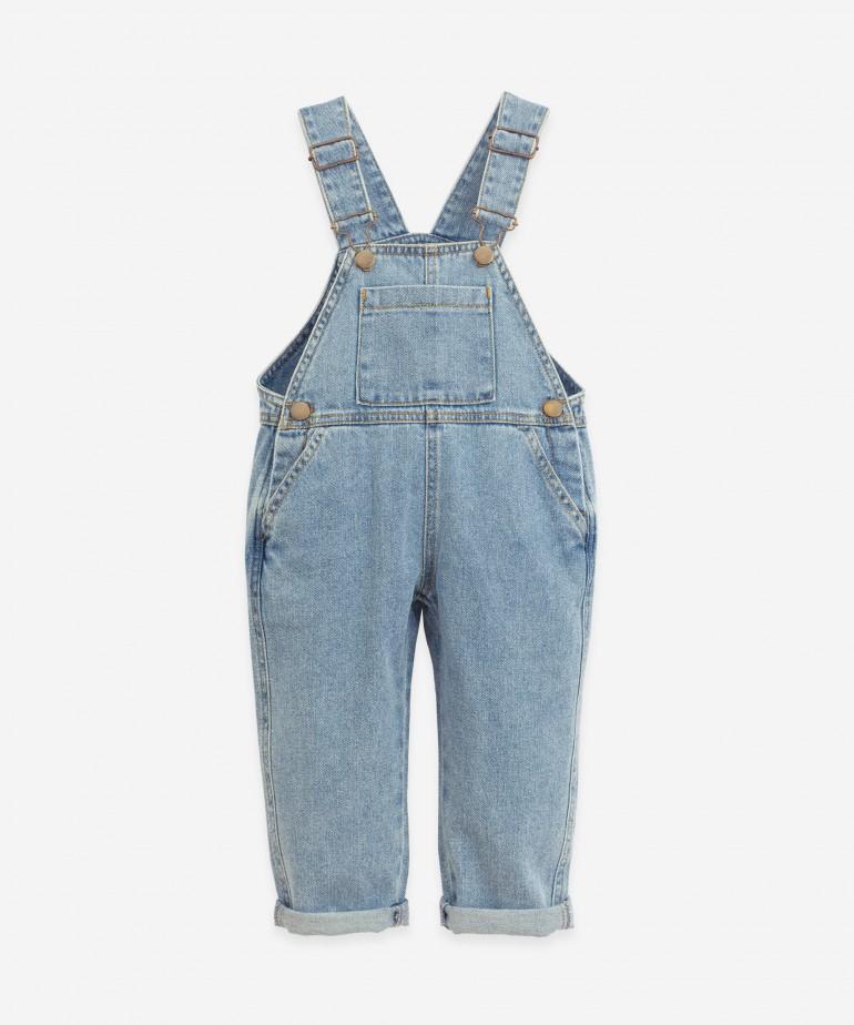 Denim jumpsuit in cotton