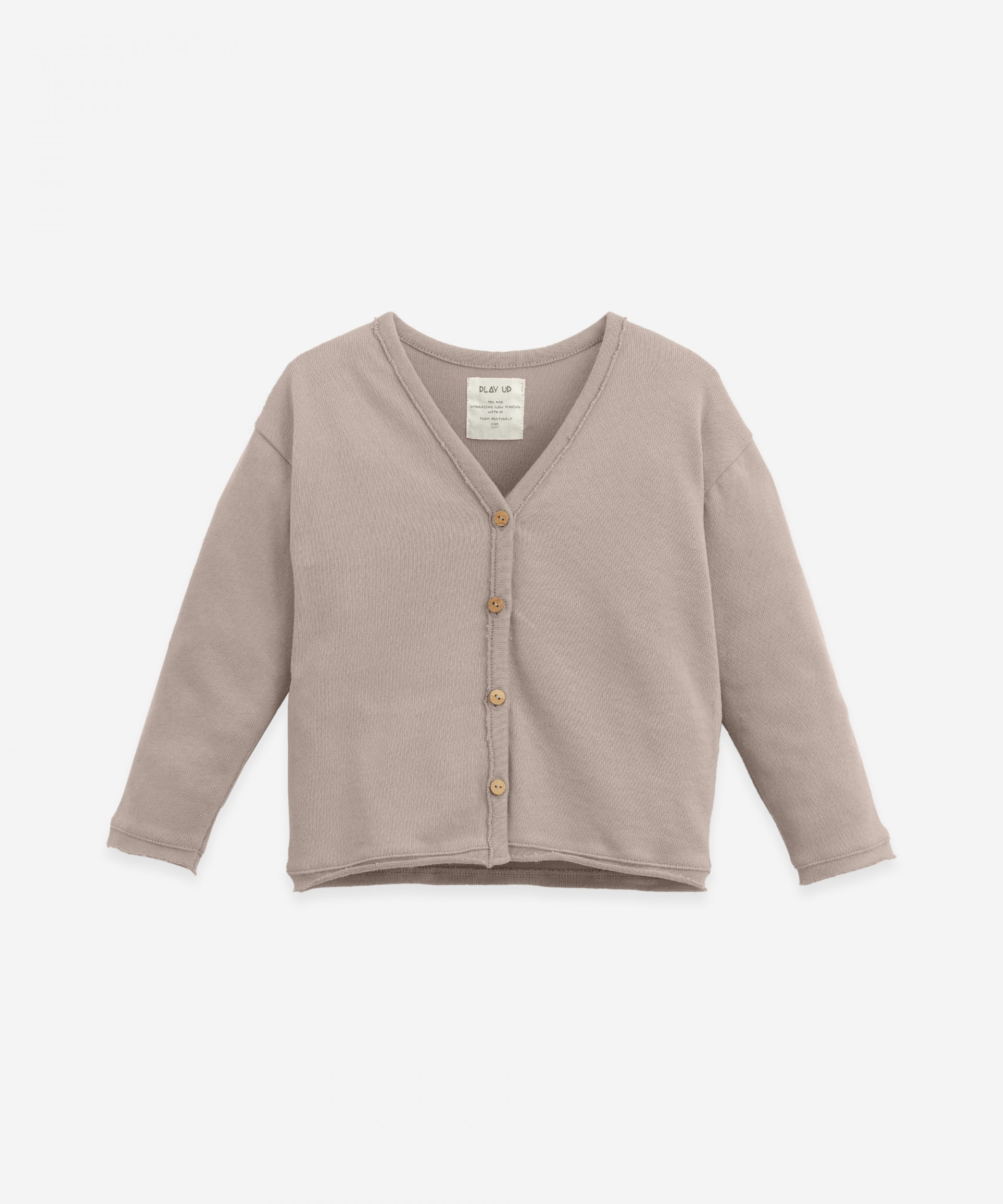 Cardigan with wooden buttons | Botany