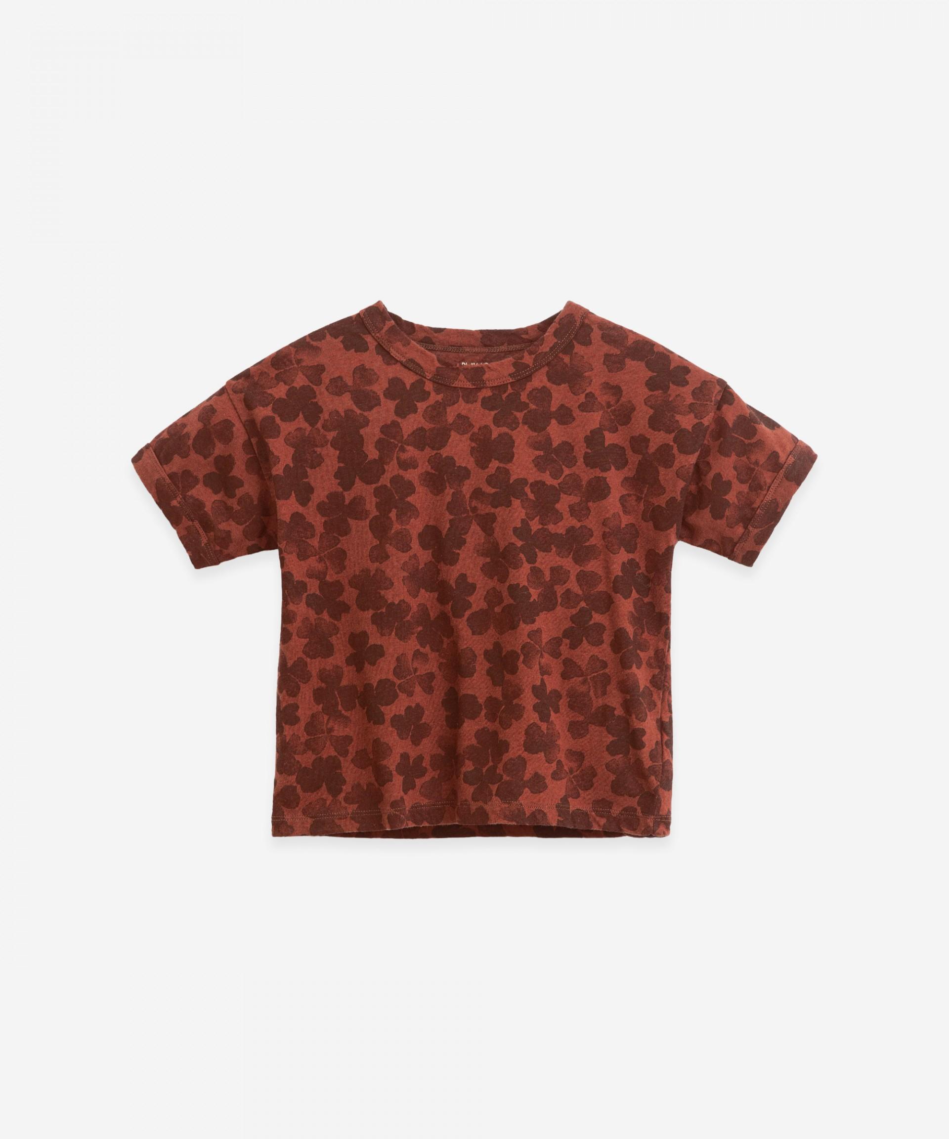 T-shirt com estampado de trevos | Botany