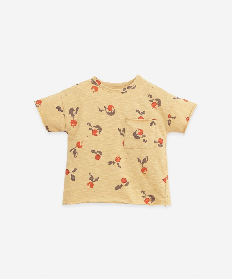 T-shirt in organic cotton with pocket
