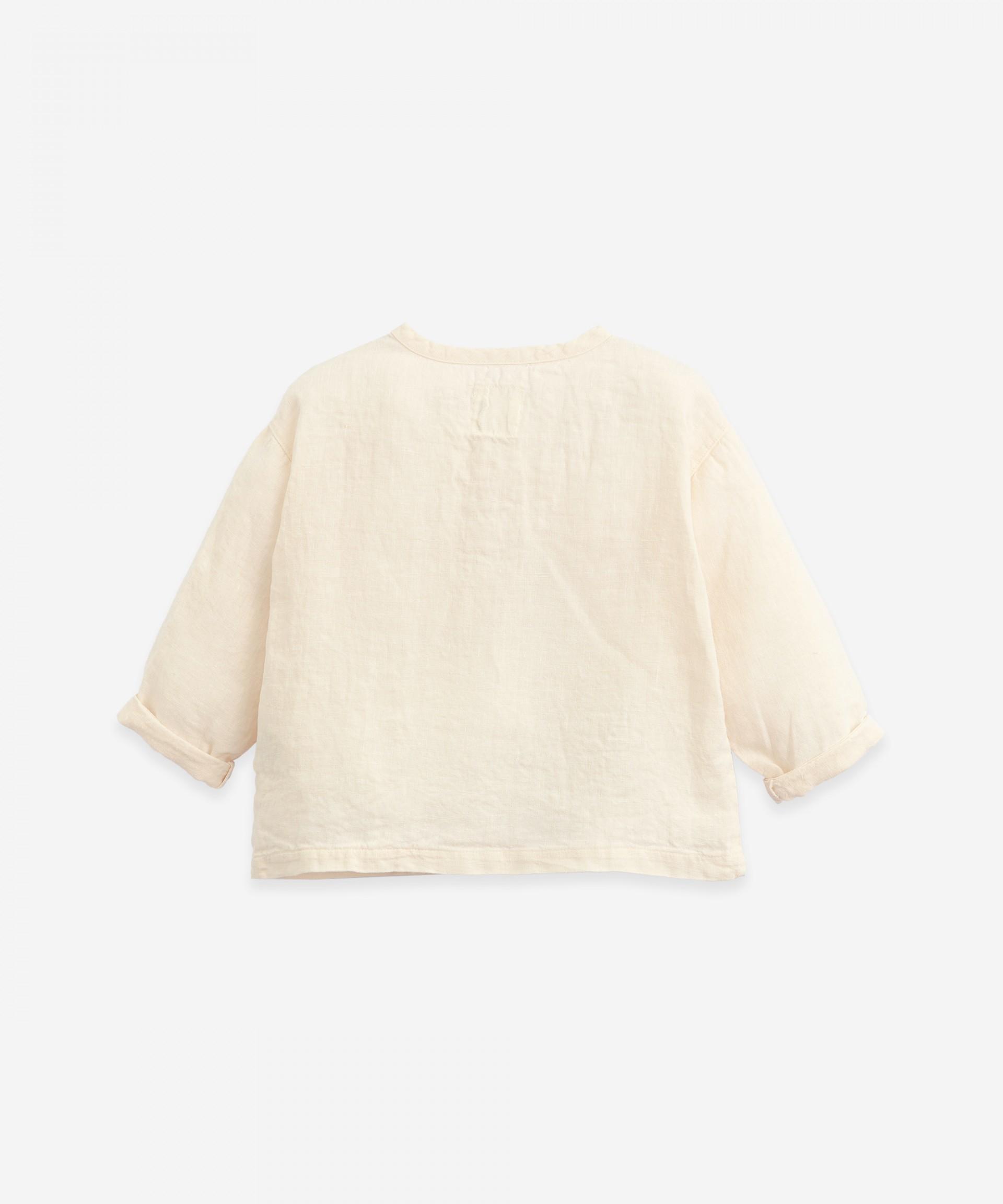Linen shirt with pocket   Botany