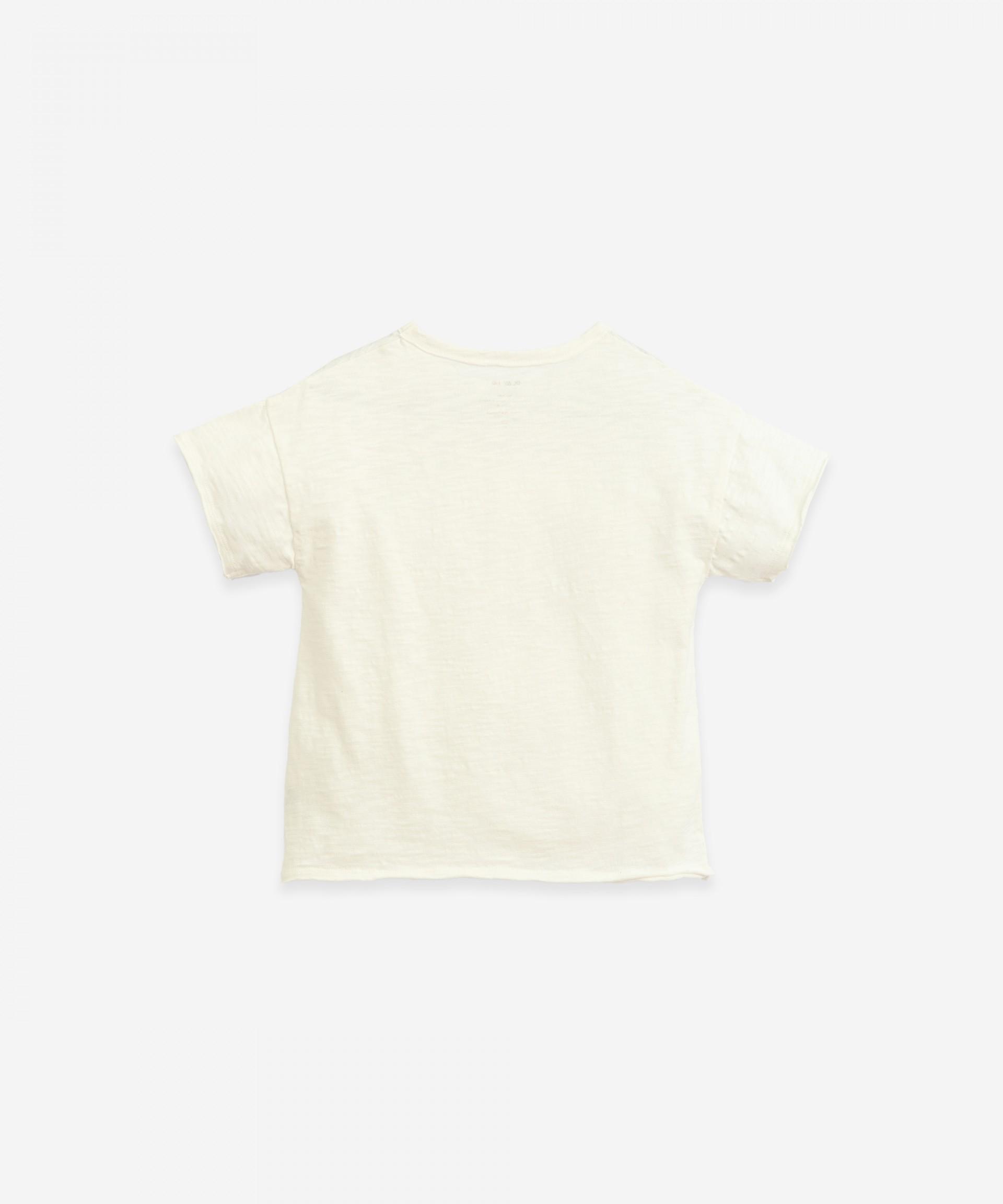 T-shirt com encaixe de tecido   Botany