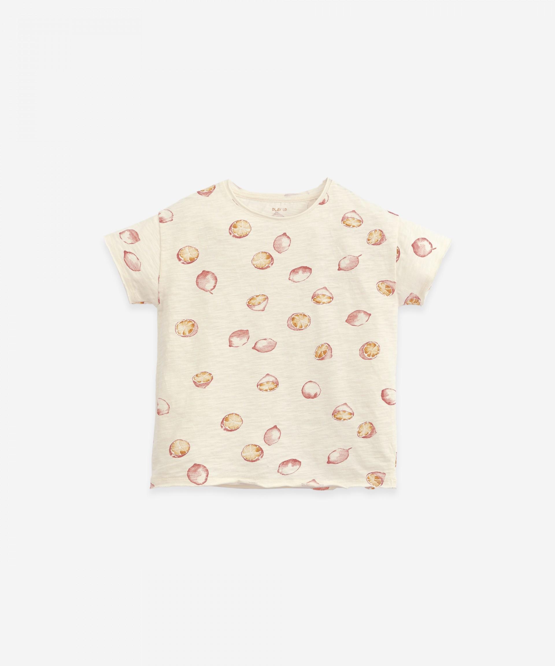 Jersey stitch T-shirt with print | Botany