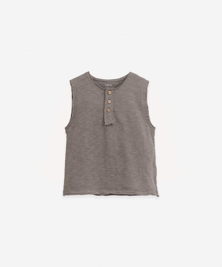T-Shirt senza maniche e cotone biologico
